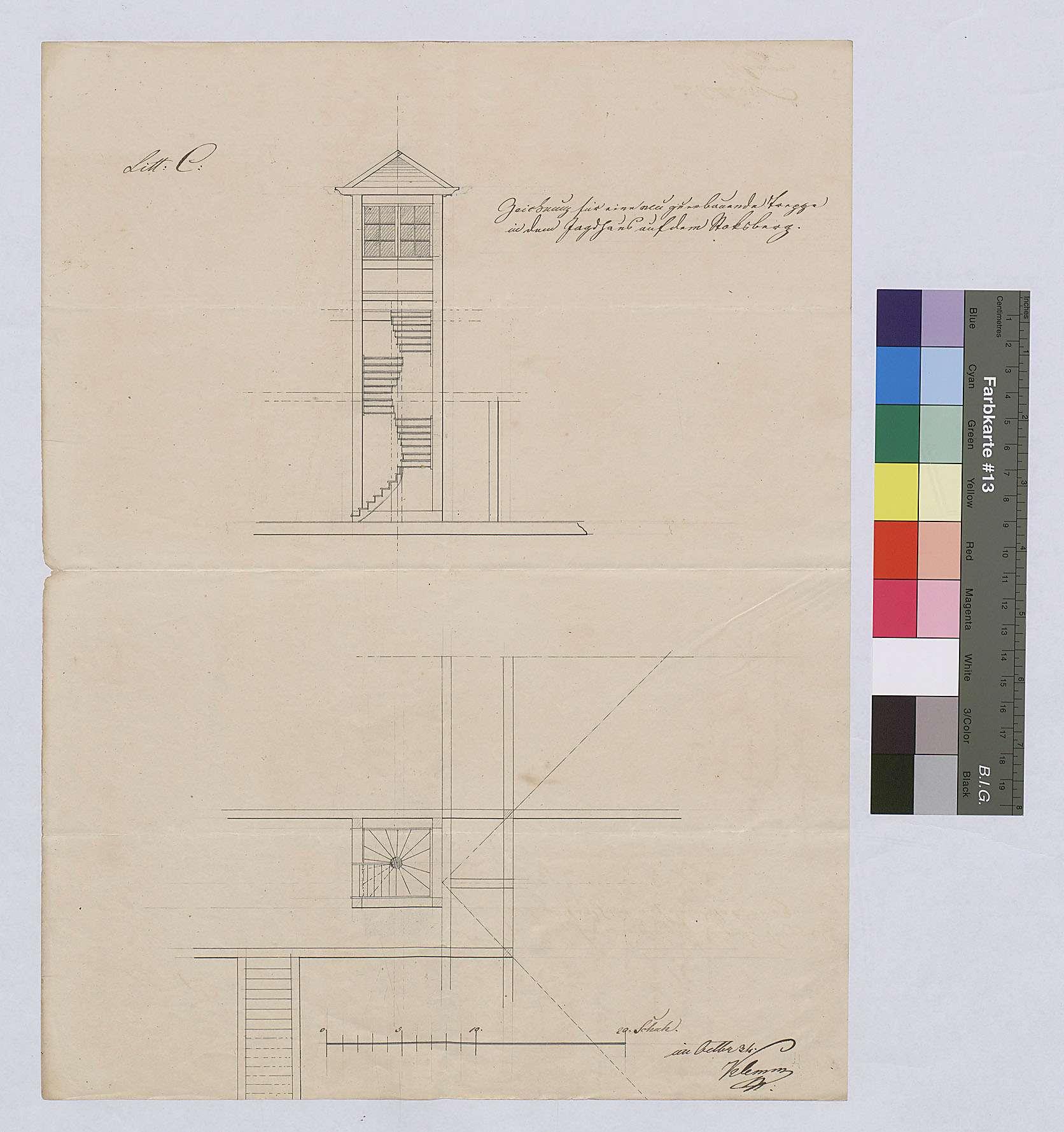 Jagdhaus Stocksberg: Neubau einer Treppe, Bild 1