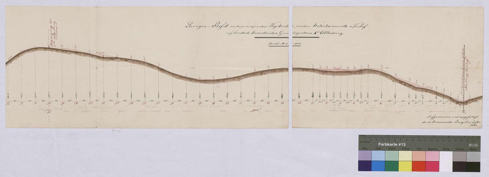 Korrektion der Wegstrecke zwischen Unterheinrieth und Vorhof auf löwensteinischem Grundeigentum, Bild 1
