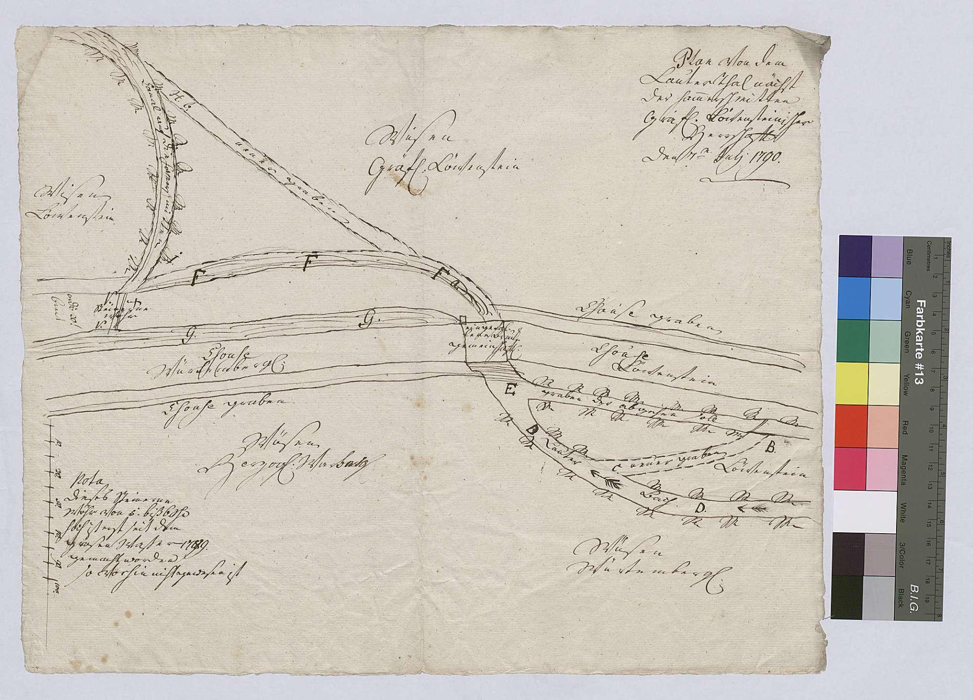 Plan von dem Lautertal nächst der Hammerschmiede, Bild 1