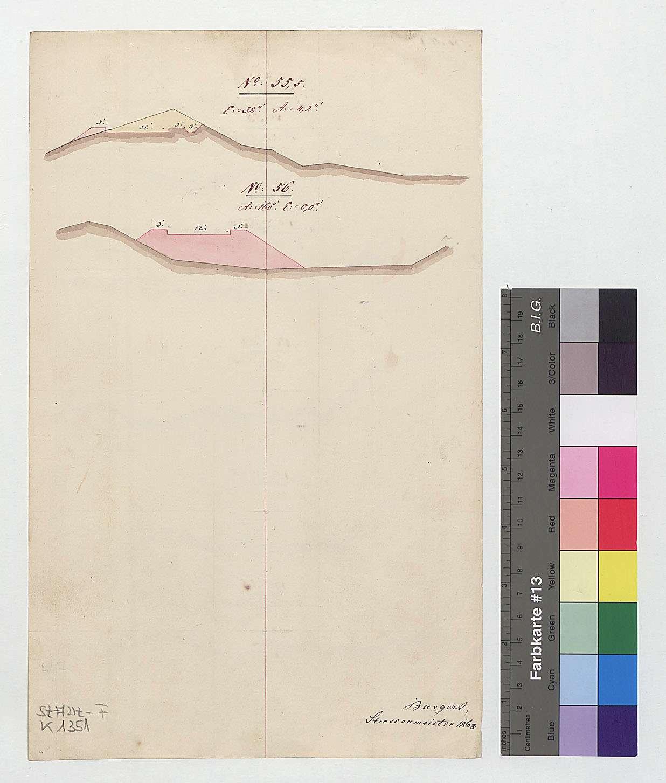 Korrektion des Vizinalweges zwischen Unterheinrieth und dem Vorhof auf löwensteinischem Gebiet, Rückseite