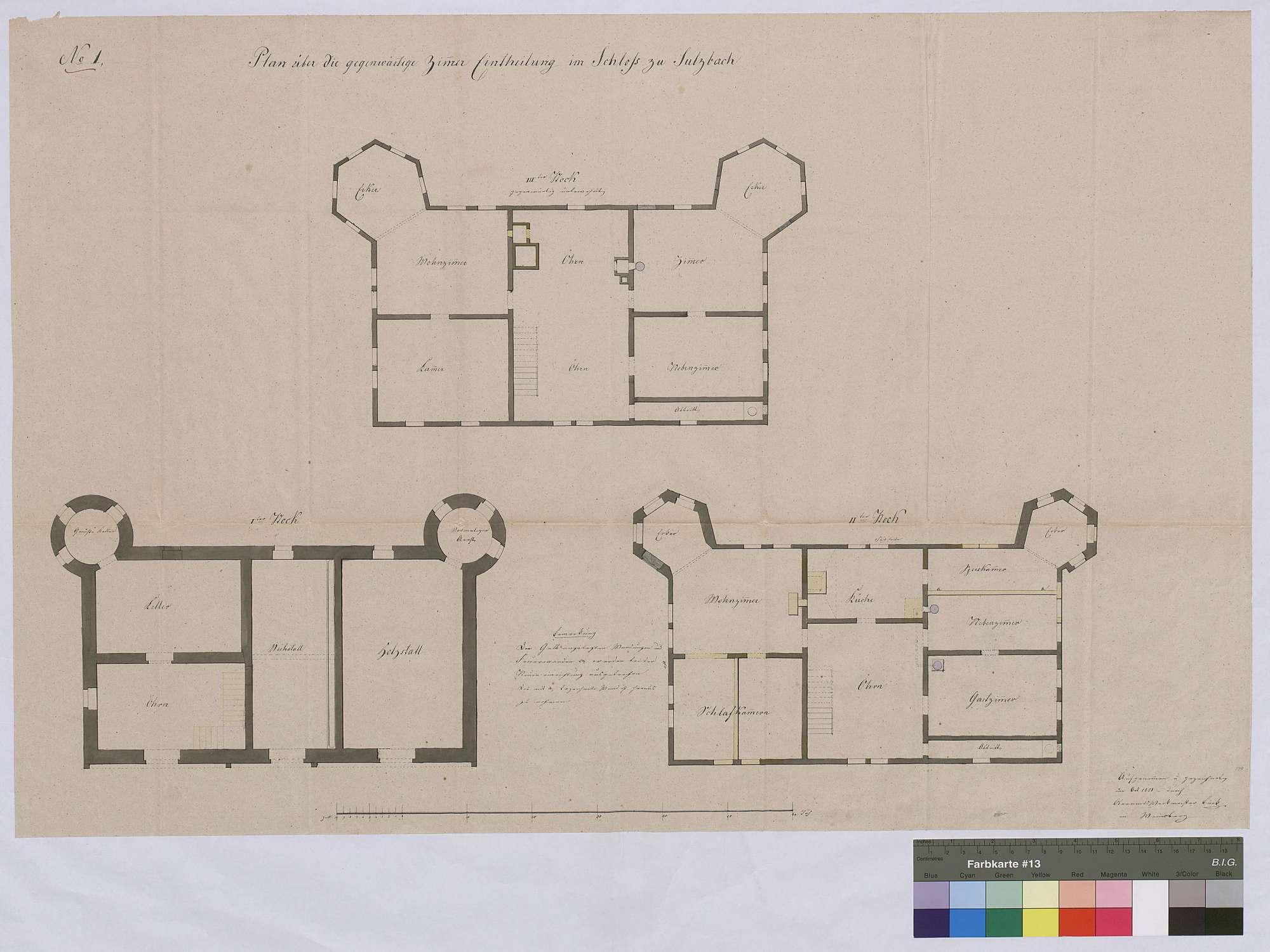 Zimmereinteilung im Schloss zu Sulzbach, Bild 1
