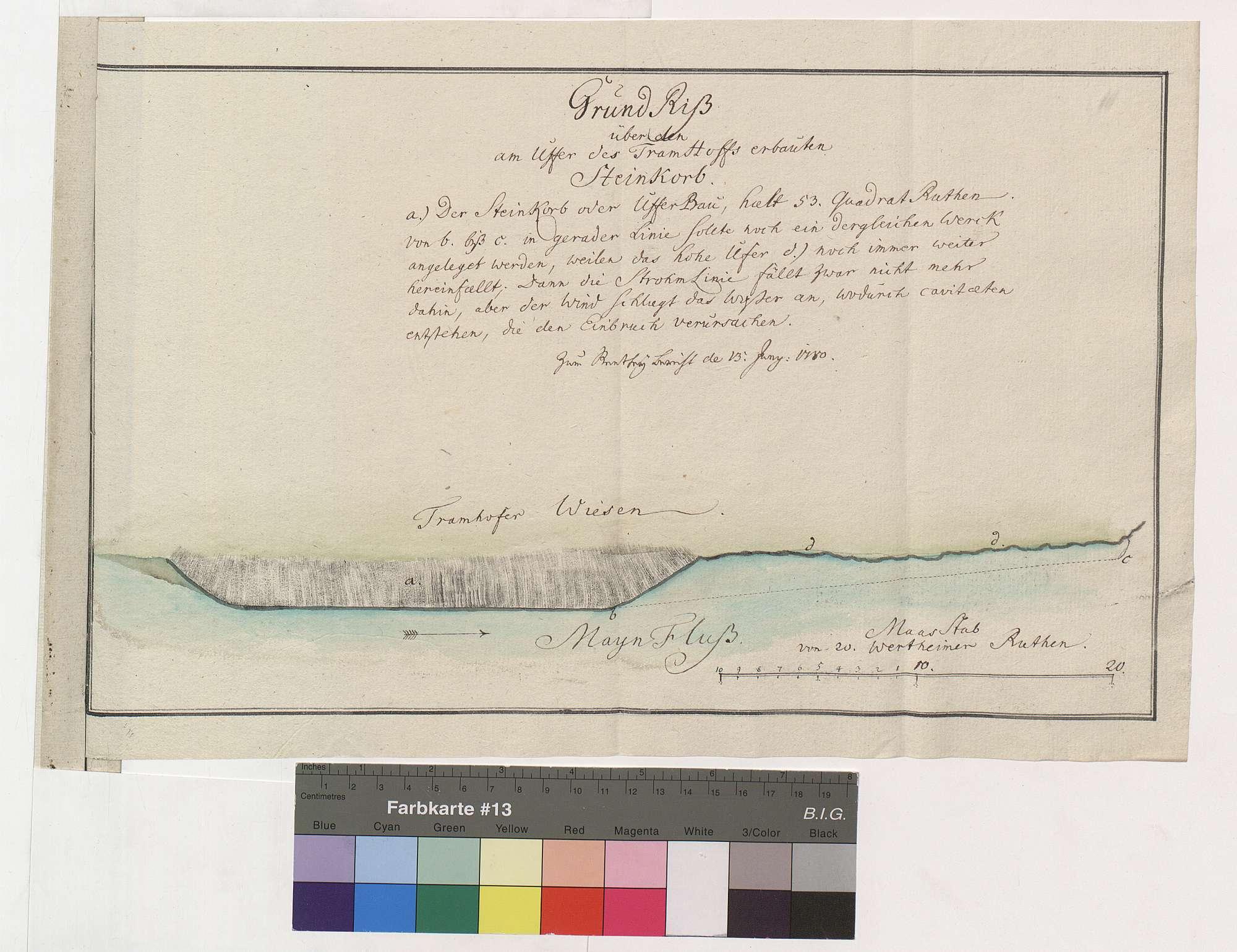 Uferbefestigung an den Tremhofer Wiesen, Bild 1