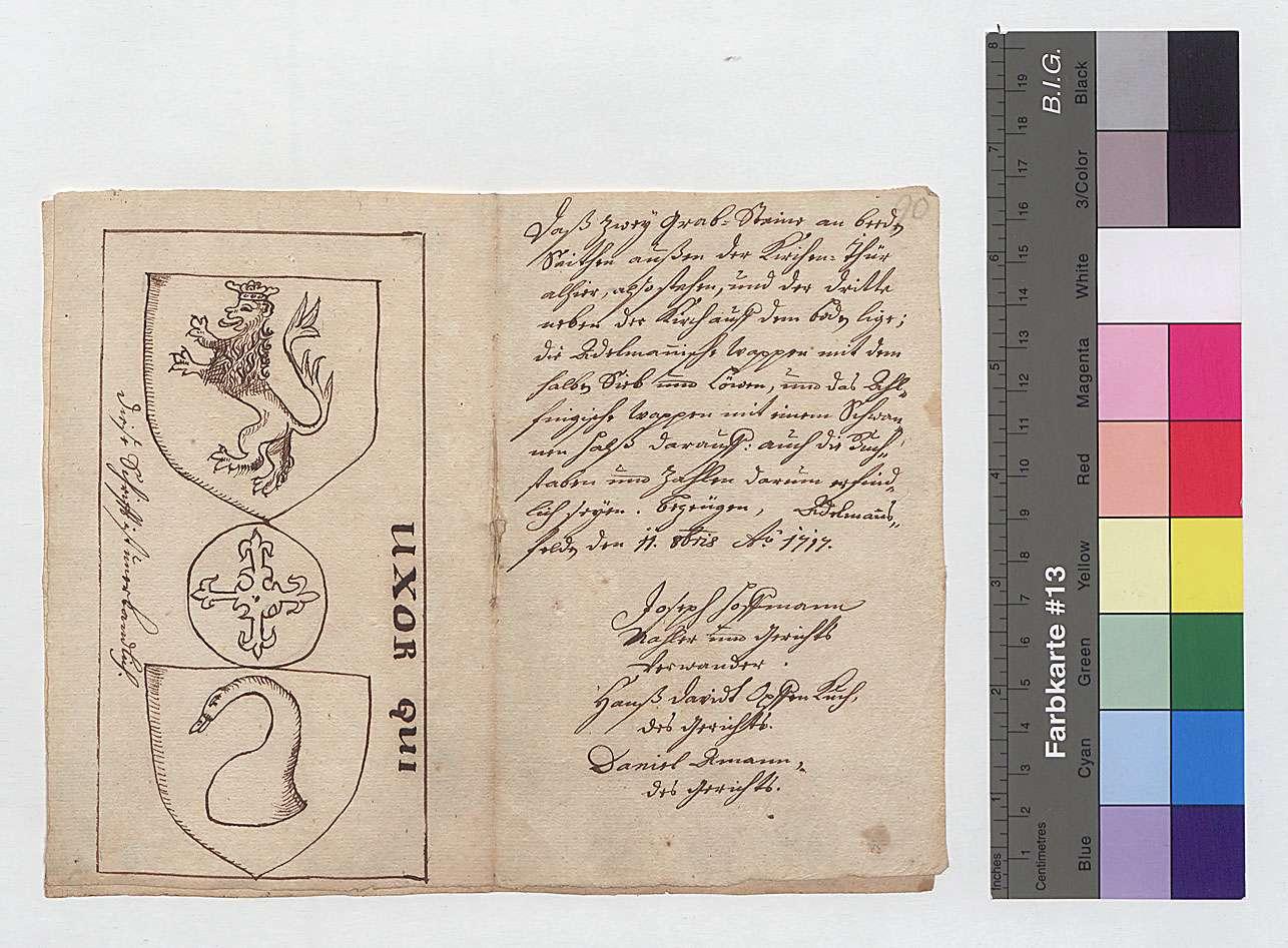 Wappen und Grabsteine der Freiherren von Adelmann in der Kirche zu Adelmannsfelden, 3