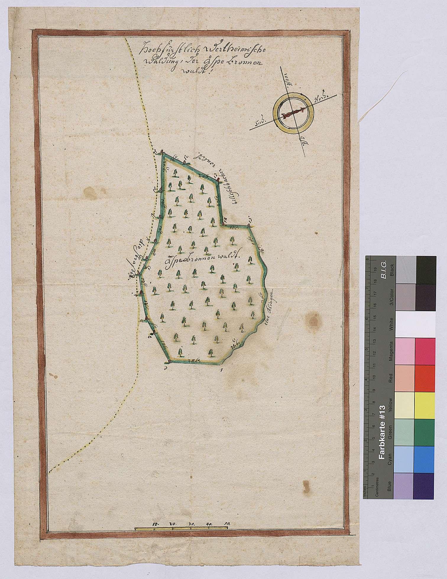 Aspenbrunnenwald (Äspebronnenwaldt) (Inselkarte), Bild 1