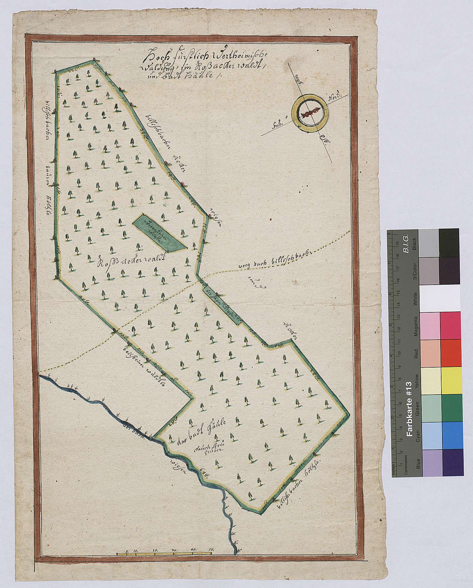 Roßackerwald und Badhäule (Inselkarte), Bild 1