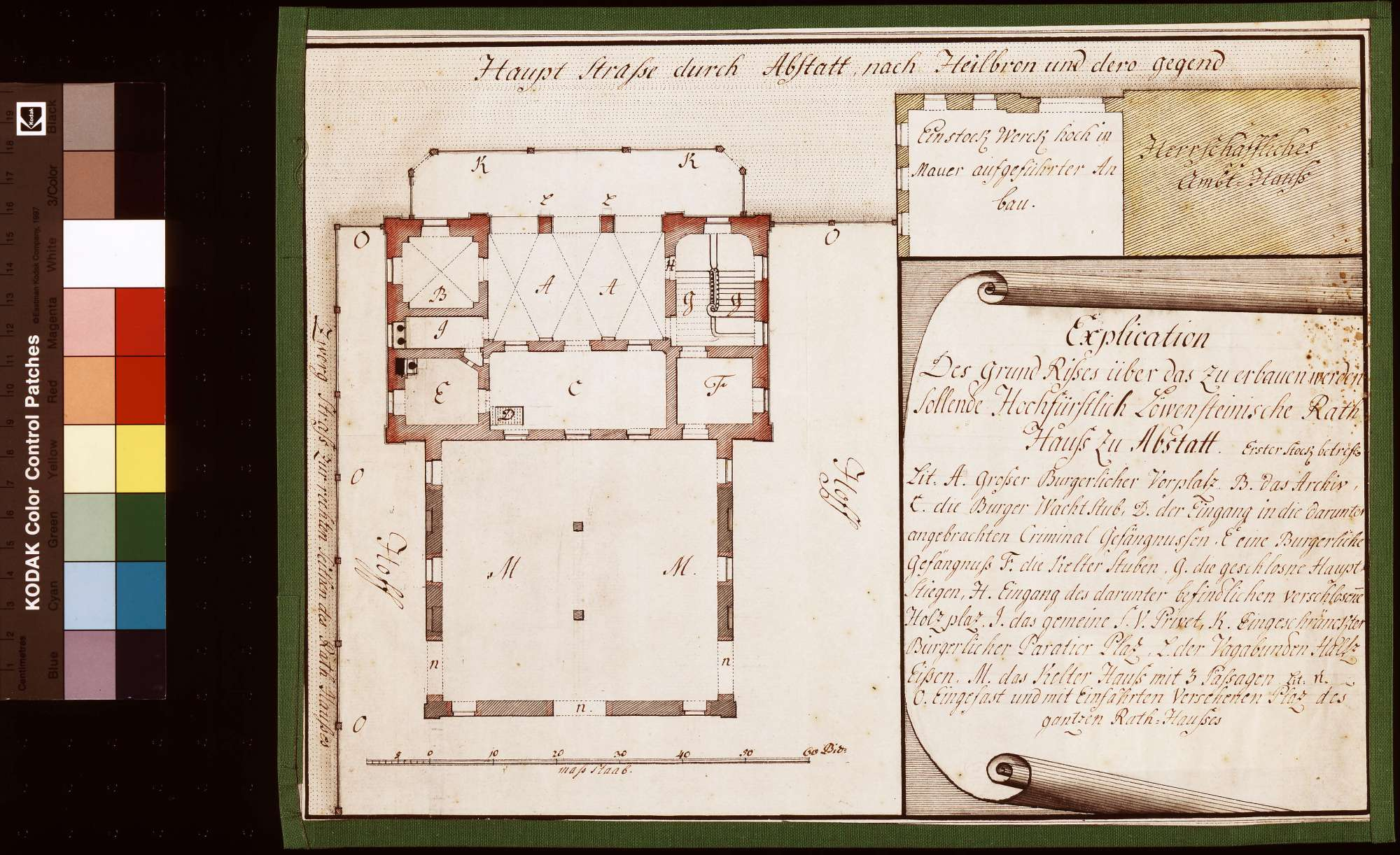Bau eines löwensteinischen Rathauses zu Abstatt, Bild 1