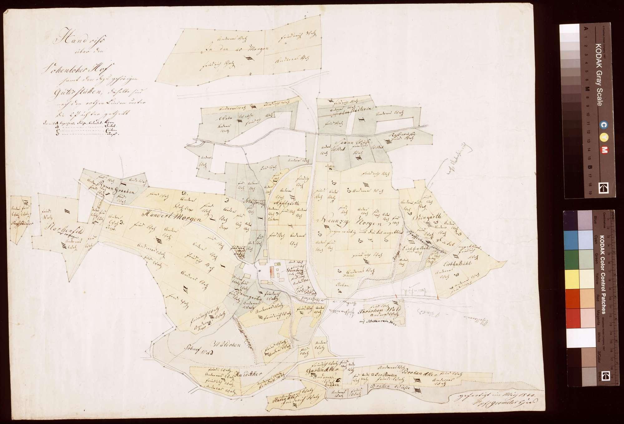Vohenloher Hof samt den dazu gehörigen Güterstücken (Inselkarte), Bild 1