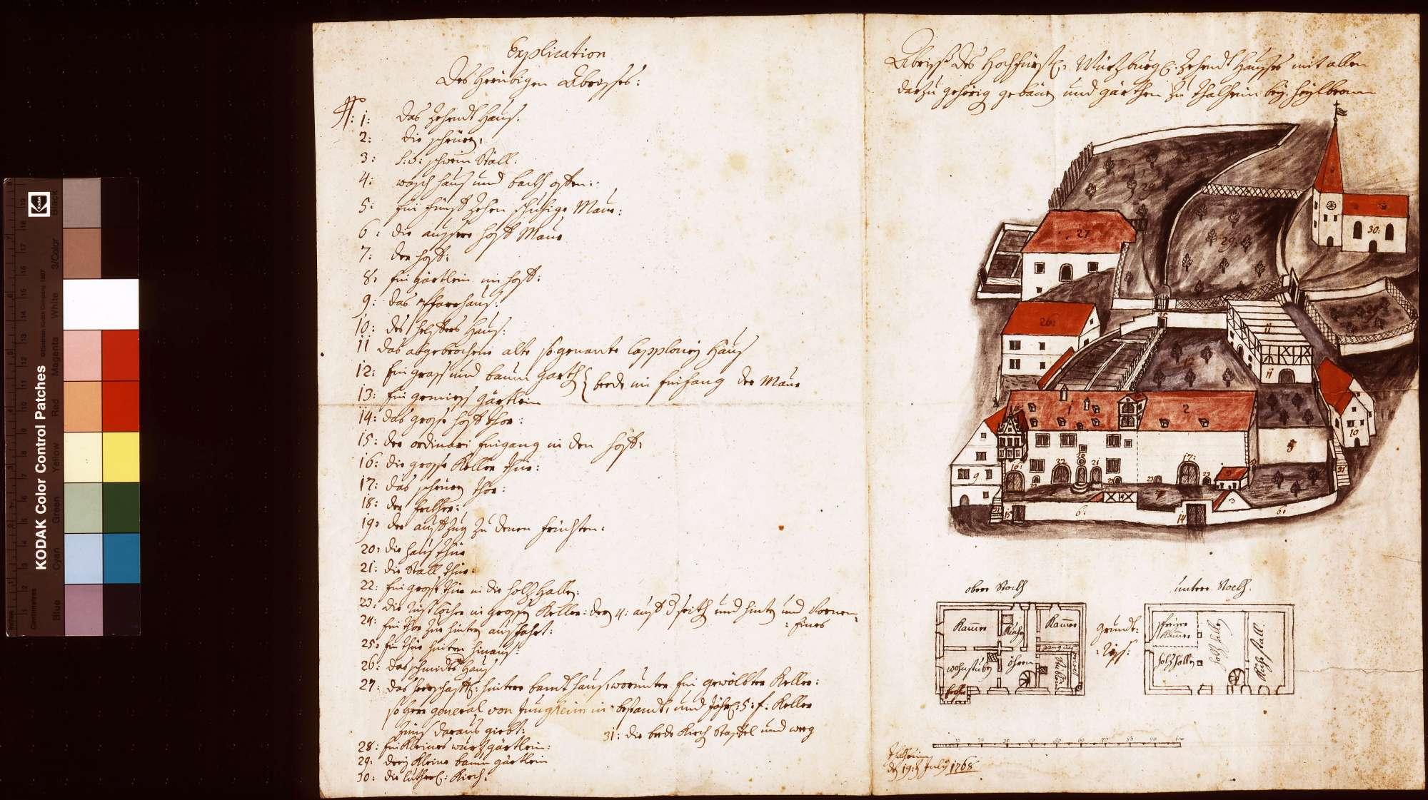 Abriss des würzburgischen Zehnthauses mit allen dazu gehörigen Gebäuden und Gärten zu Talheim bei Heilbronn, Bild 1