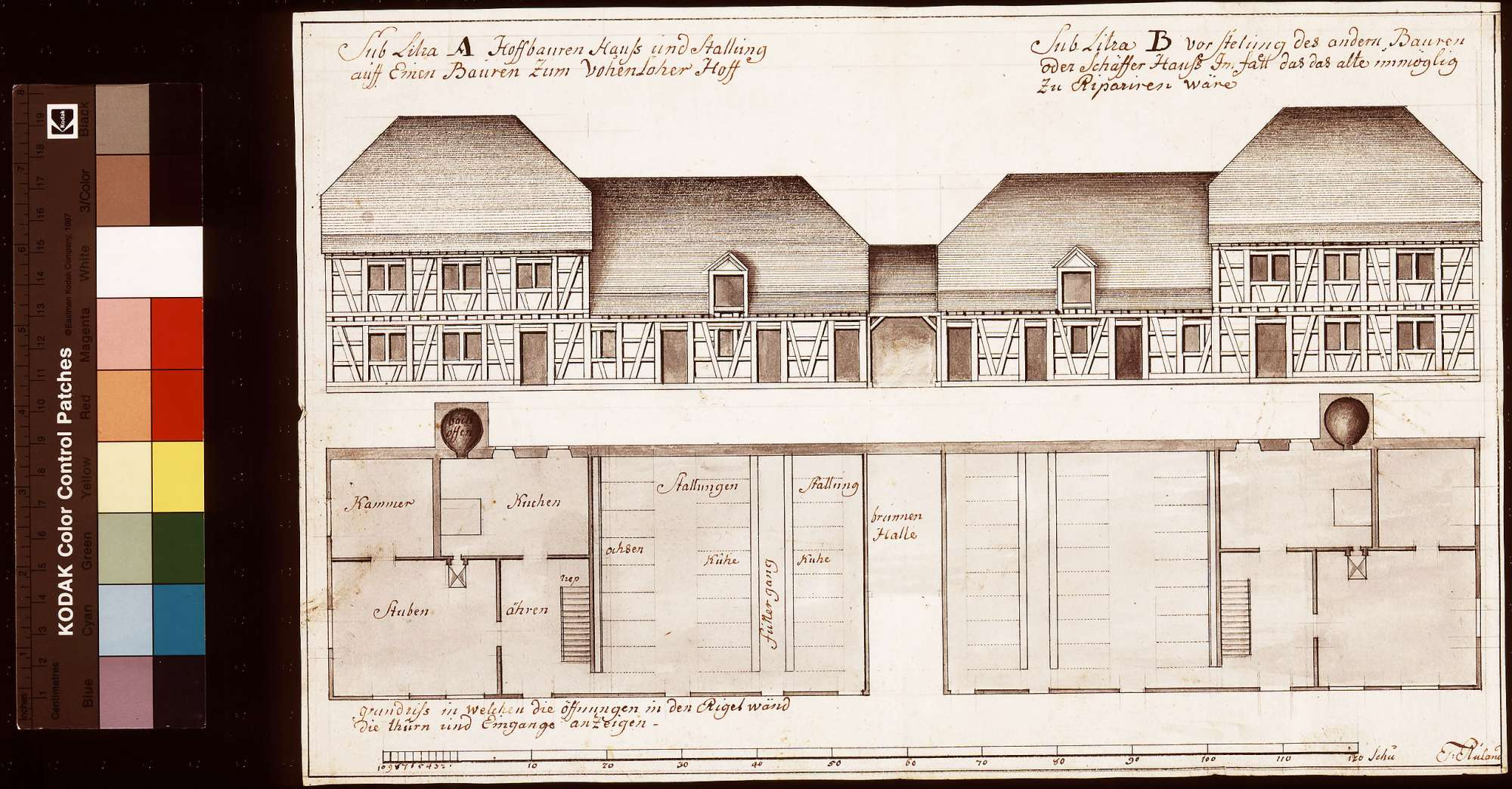 Um- oder Neubau des Hofbauern Haus mit Stallung am Vohenloher Hof, Bild 1