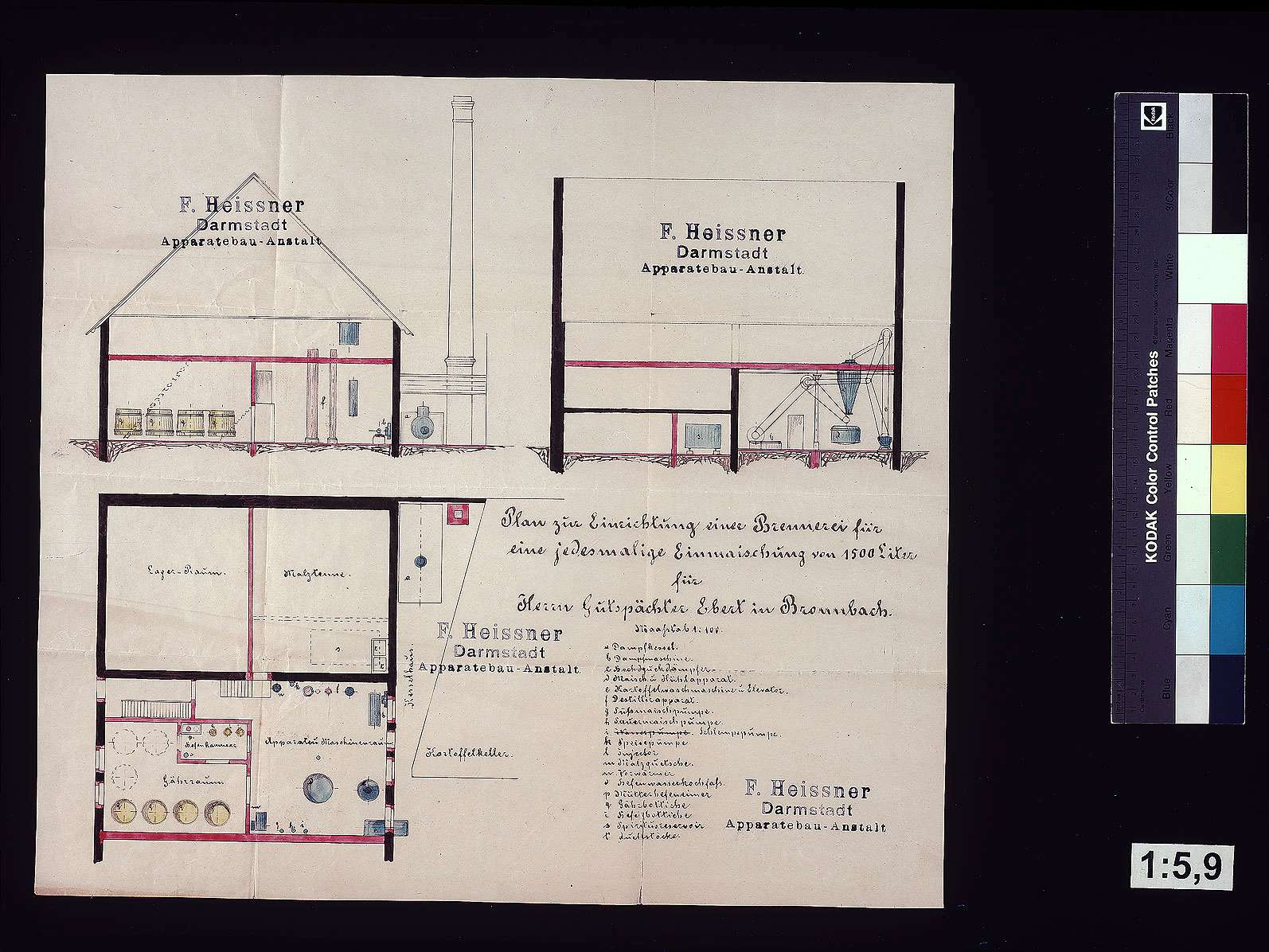 Einrichtung einer Brennerei für Gutspächter Ebert in Bronnbach, Bild 1