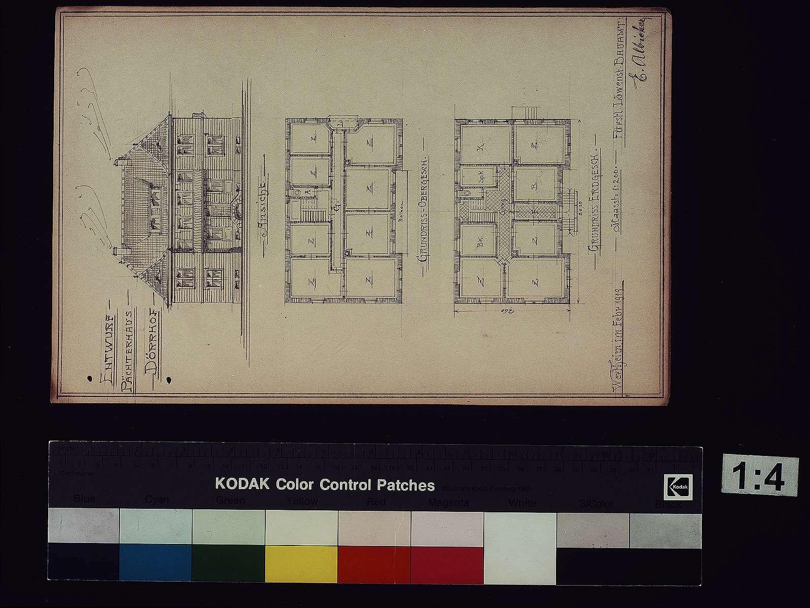 Dörrhof bei Rosenberg: Entwurf zum Pächterhaus, Bild 1