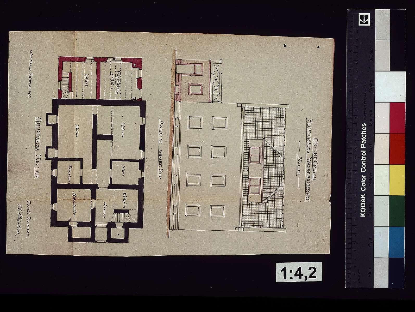 Hofgut Wagenbuch: An- und Umbau des Pächterhauses, Bild 1
