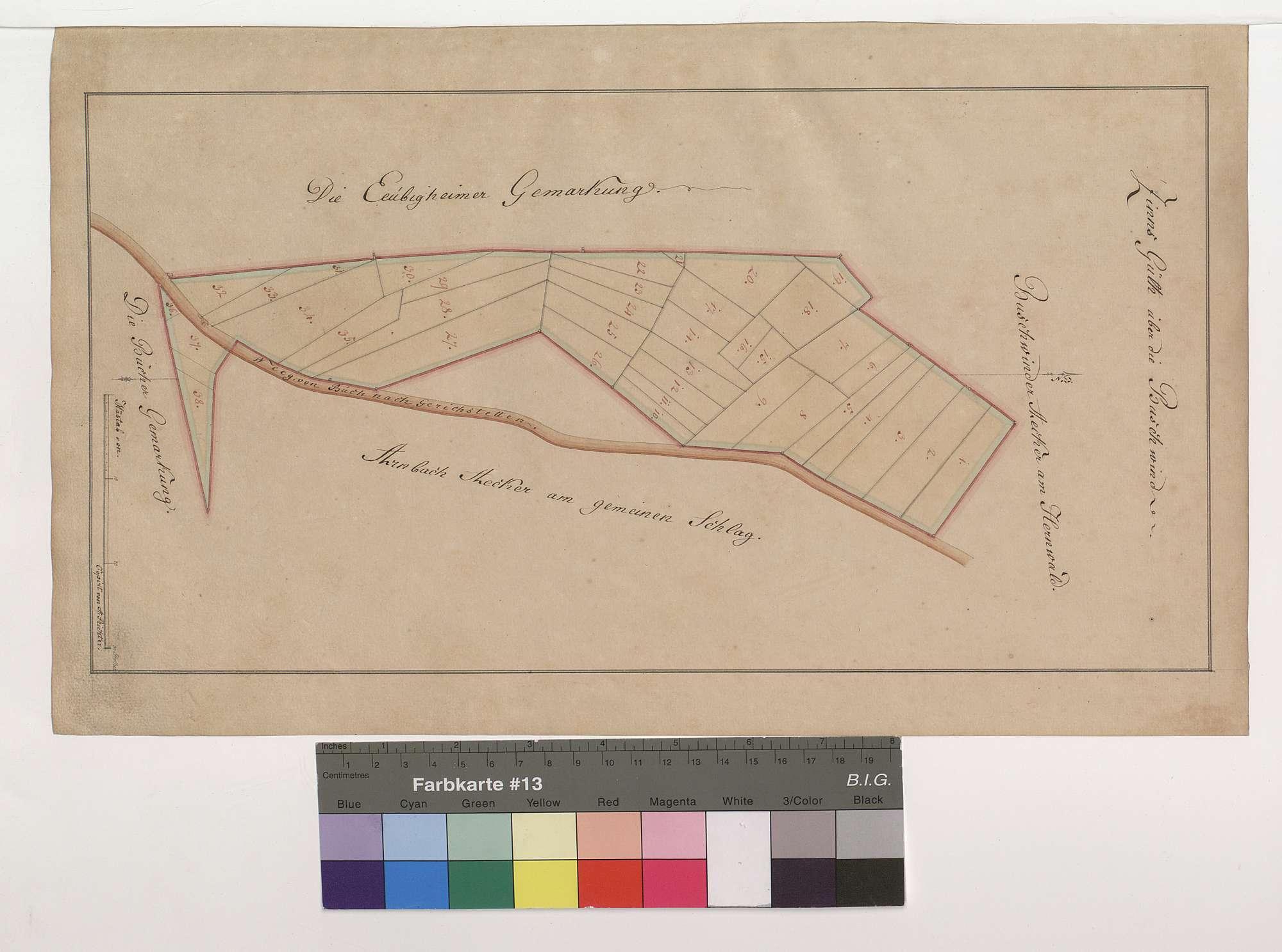 Lagerbuch und Heber über die Grundstücke von der Buschwind in Buch am Ahorn, Bild 1