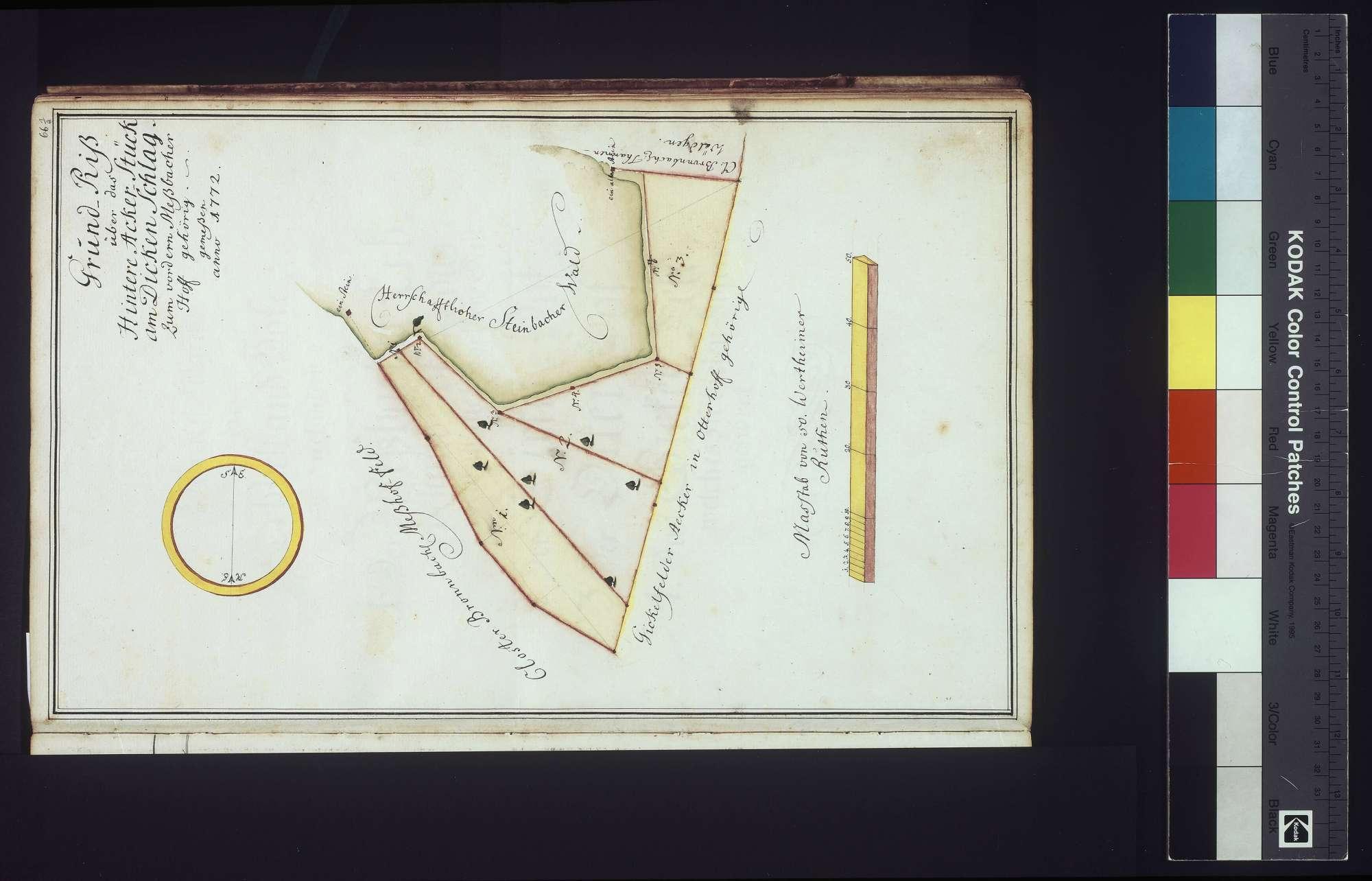 Lager- und Gültbuch über den Meßbacherhof (Meßhof), Gickelhof und Otterhof nebst beigefügter Beschreibung über derselben Absteinung, Bild 1