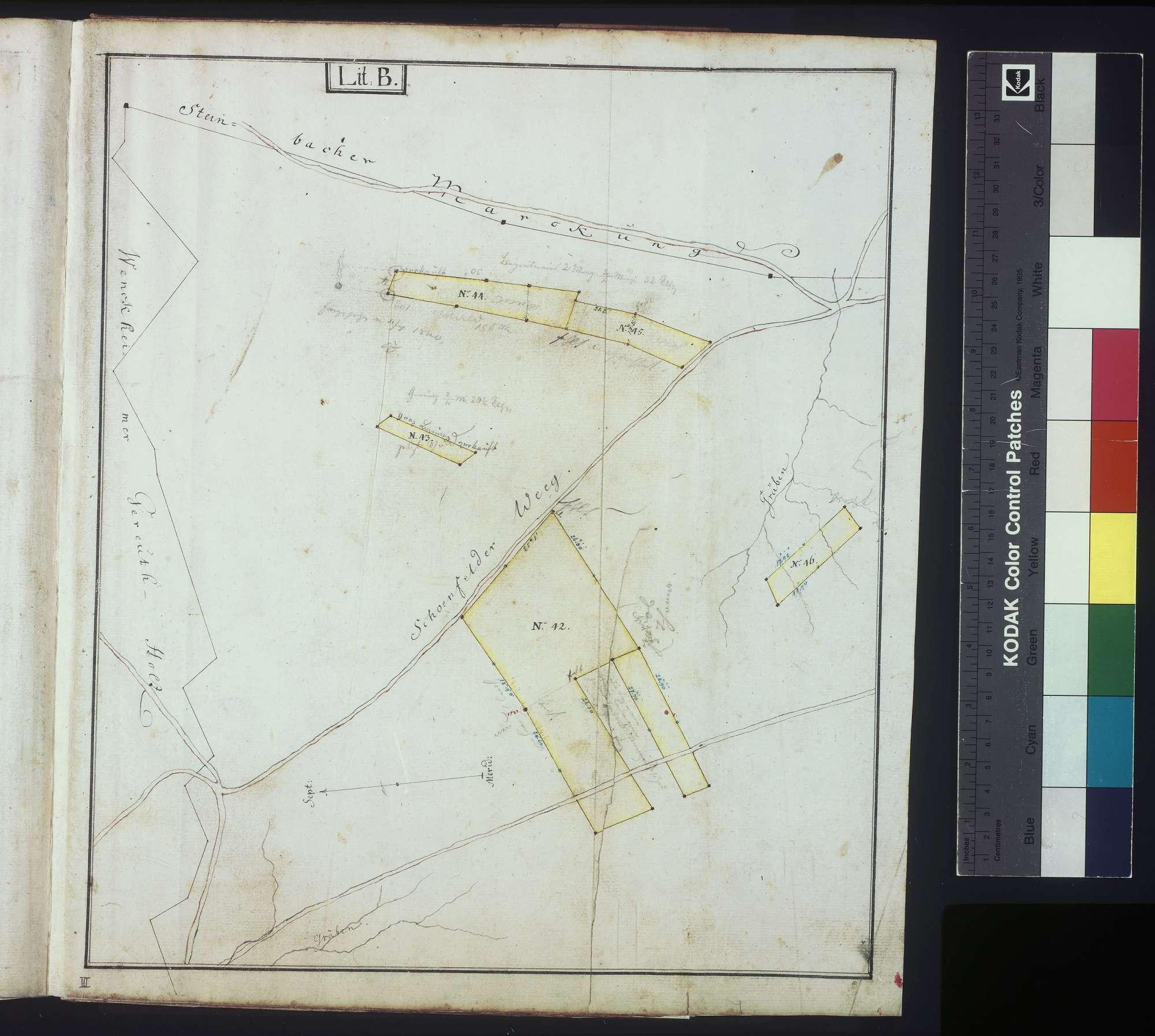 Lagerbuch oder Beschreibung der gemeinherrschaftlich löwenstein-wertheimischen Hofgüter zu Wenkheim, Bild 1