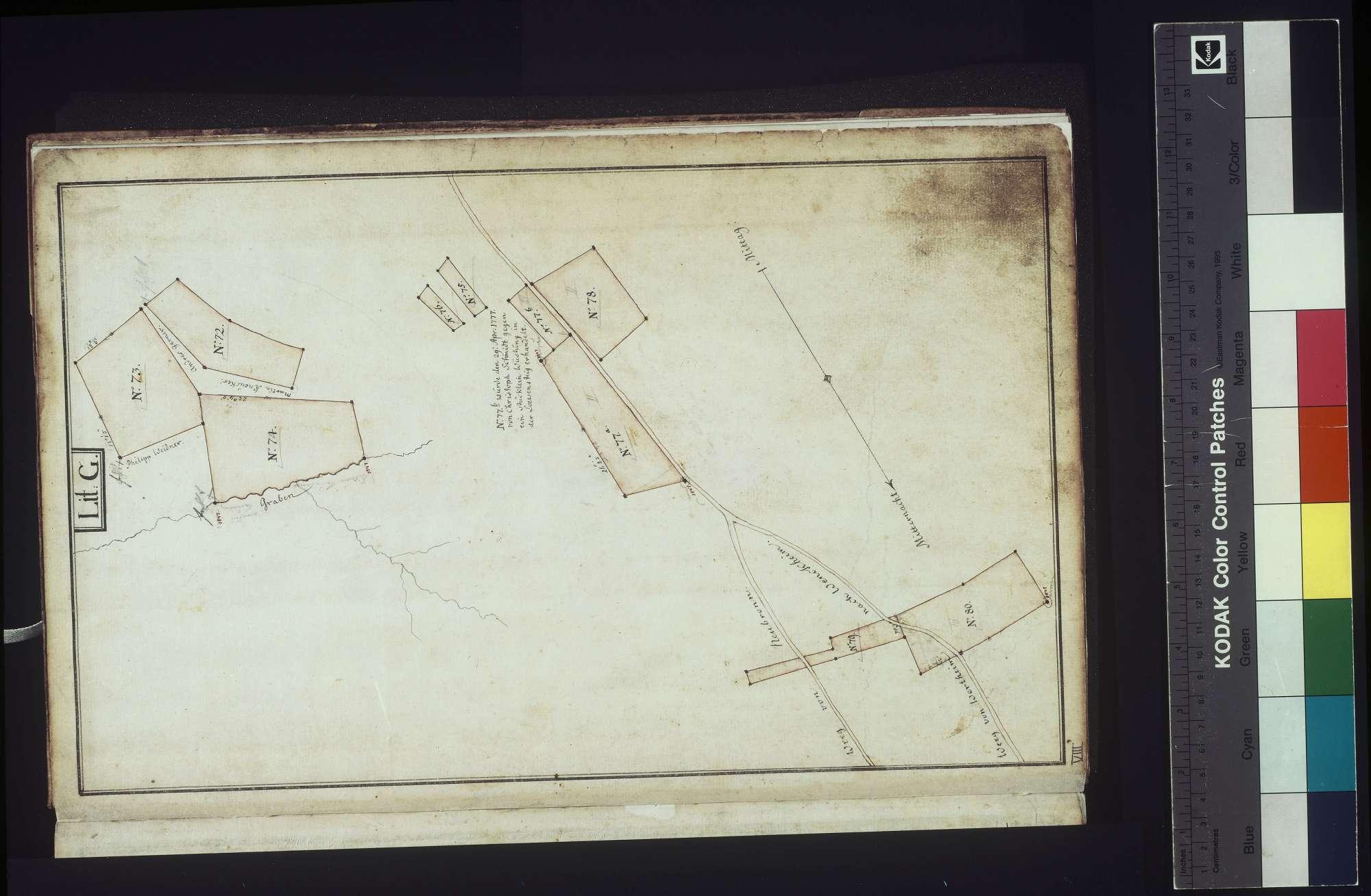 [Lagerbuch oder Beschreibung der gemeinherrschaftlich löwenstein-wertheimischen Hofgüter zu Wenkheim], Bild 1