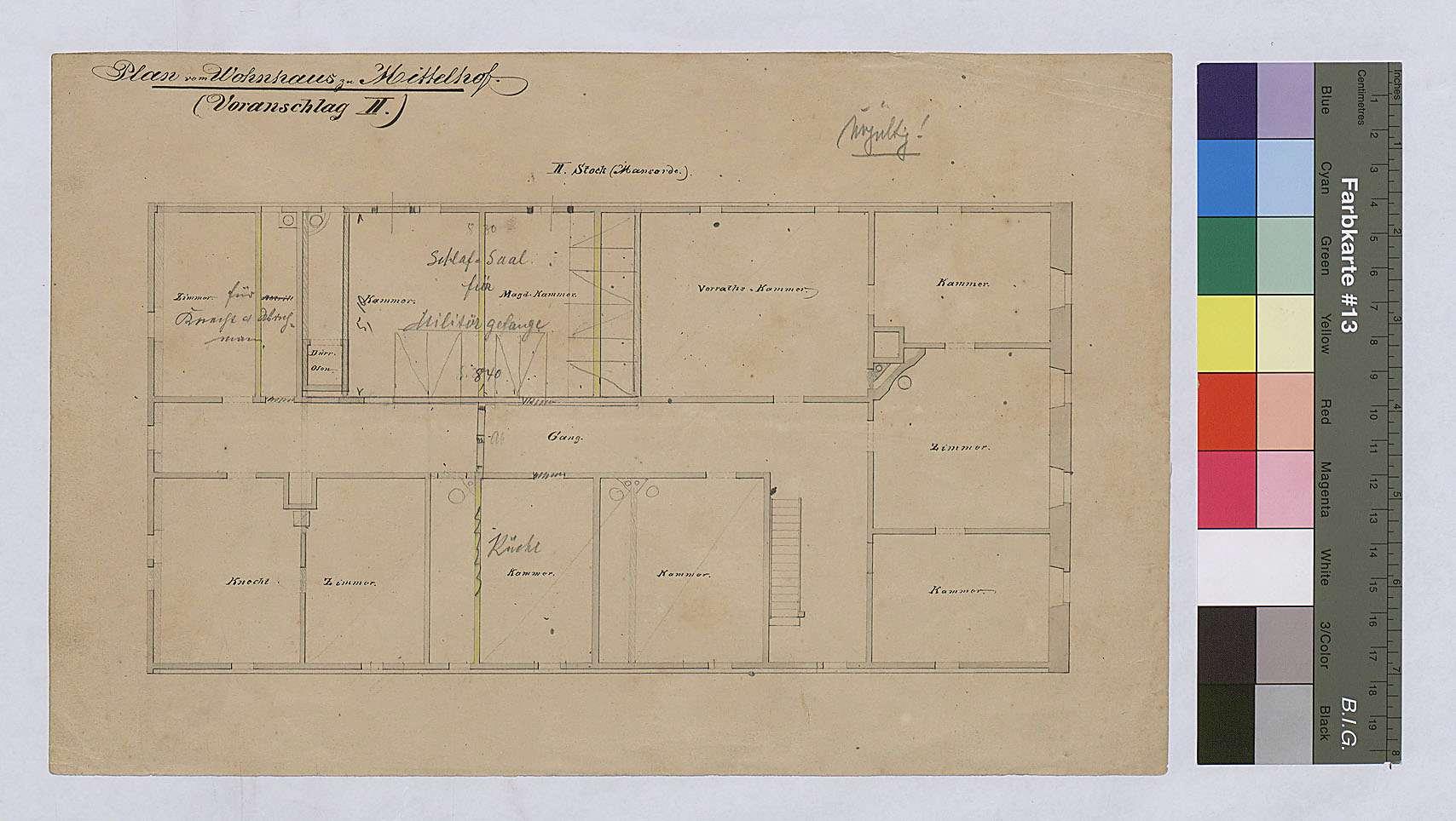 Mittelhof: Umbau des Hausstalles (Voranschlag II), Bild 1