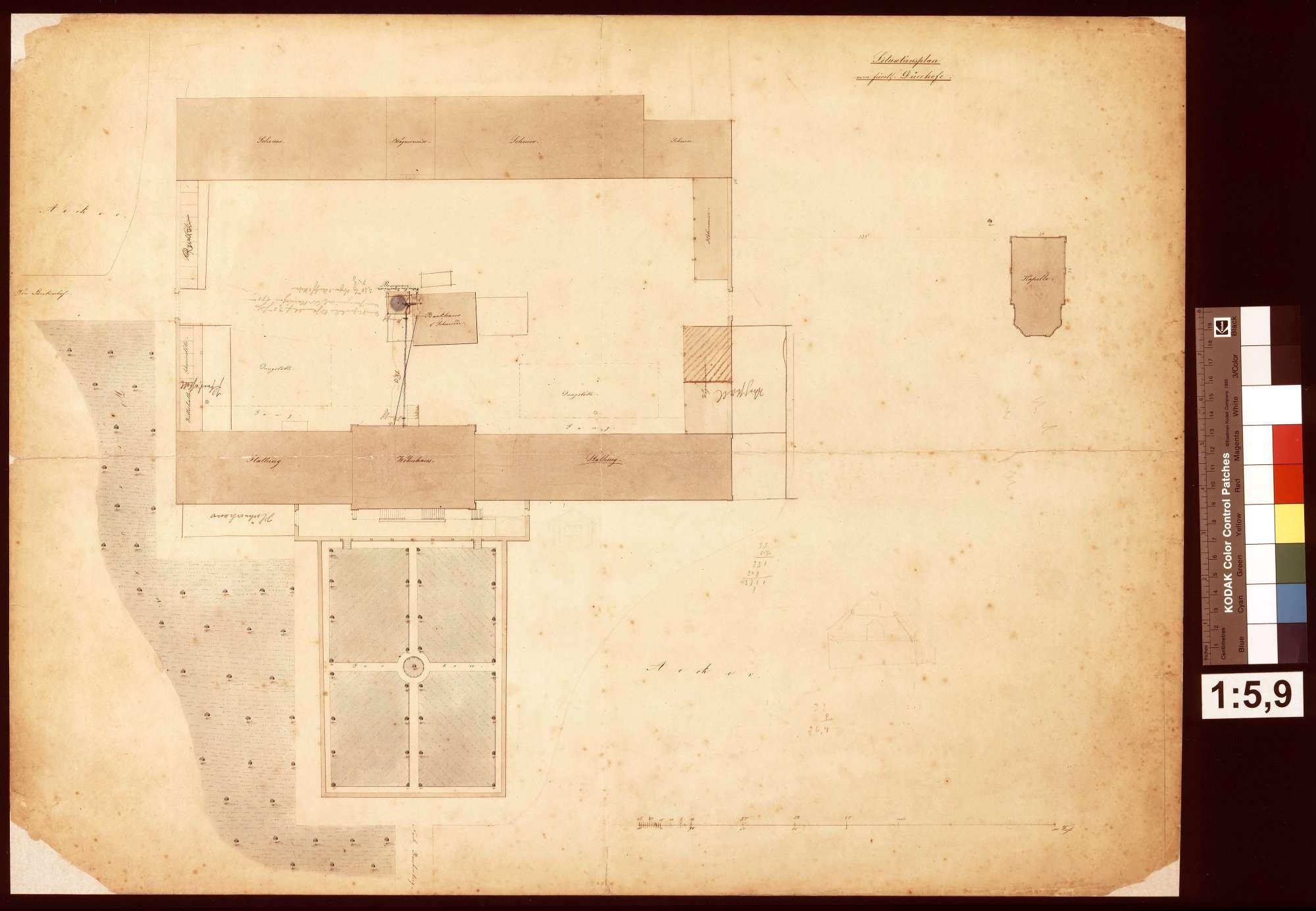 Situtationsplan vom Dürrhof, Bild 1