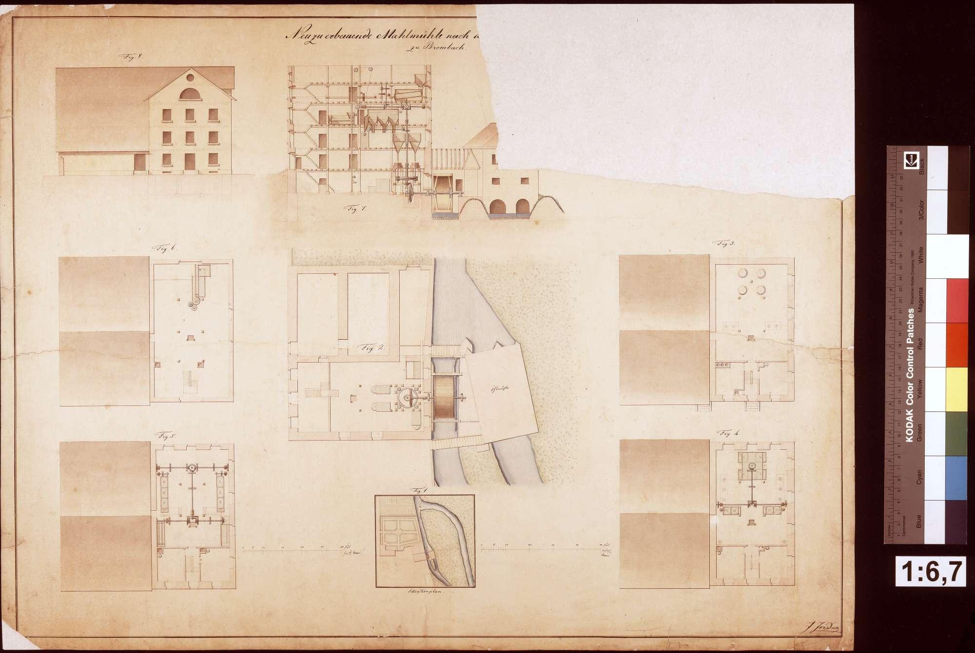 Neubau einer Mahlmühle zu Bronnbach, Bild 1
