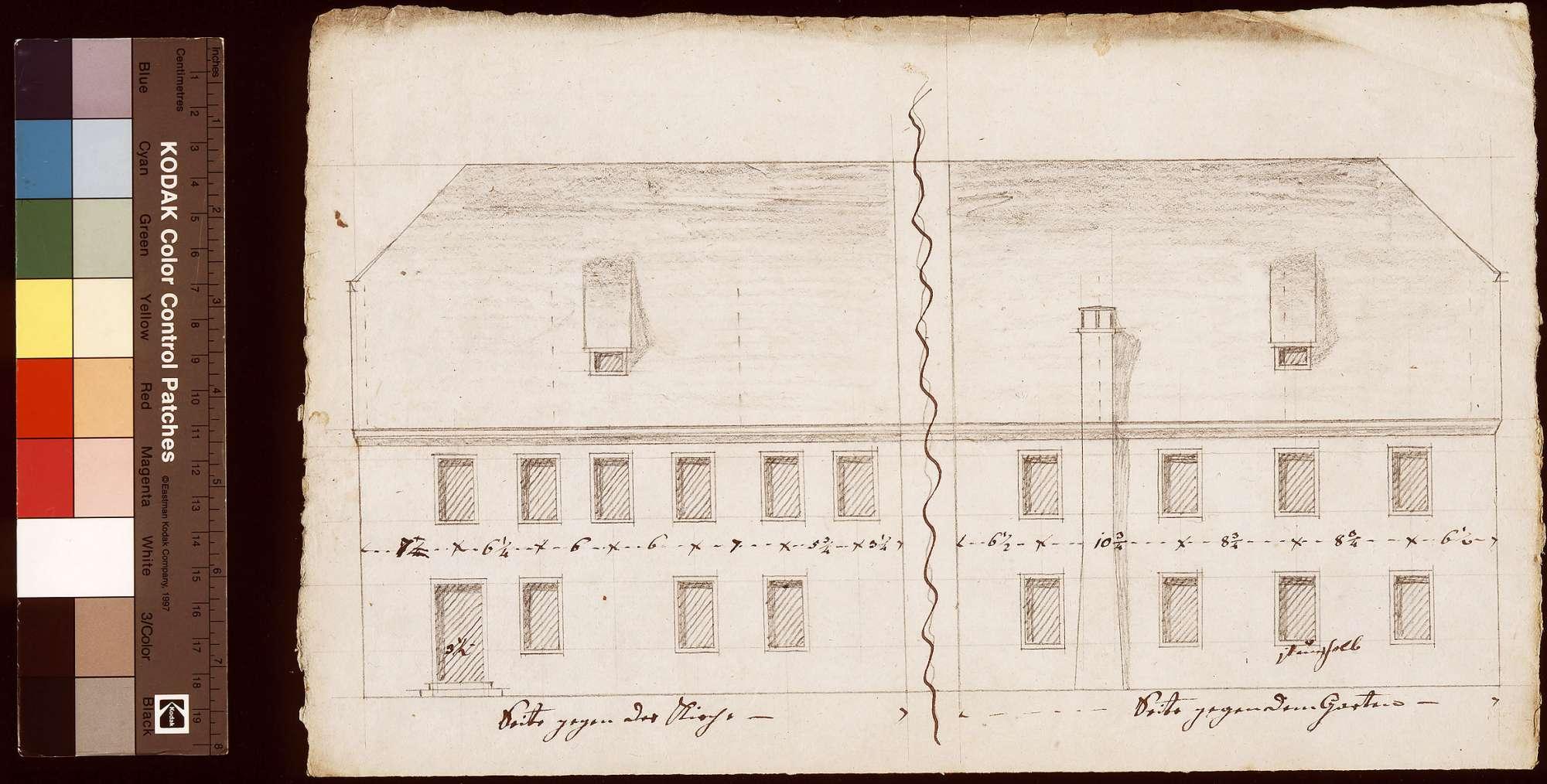 Vergrößerung und Reparatur des Amtshauses zu Rosenberg, Bild 1