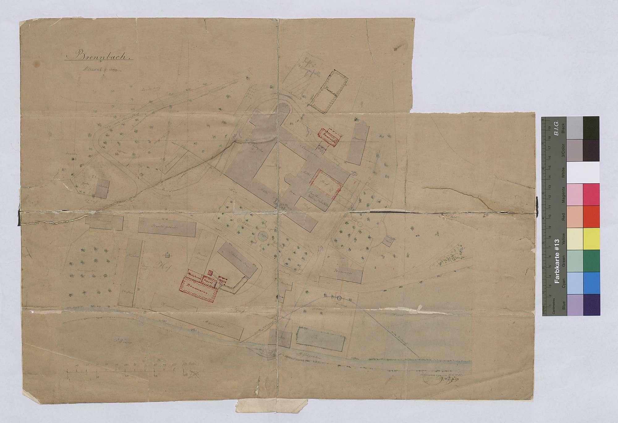 Lageplan Bronnbach, Bild 1