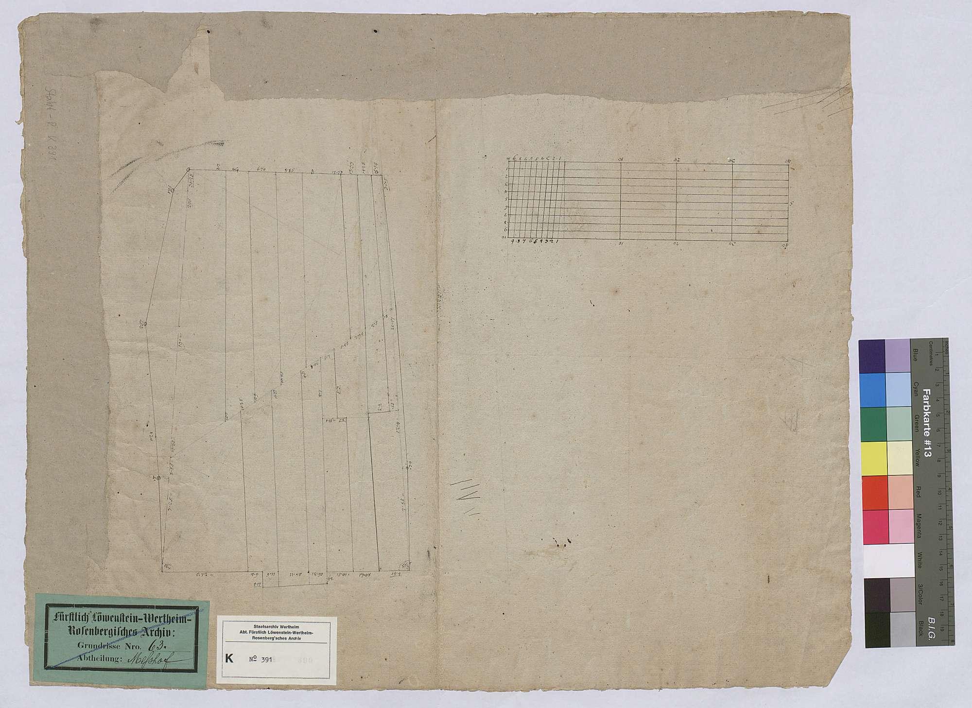 [Neuabsteinung der Gemarkung des Hinteren Meßhofs (Altmeßbach)] (Inselkarte), Rückseite