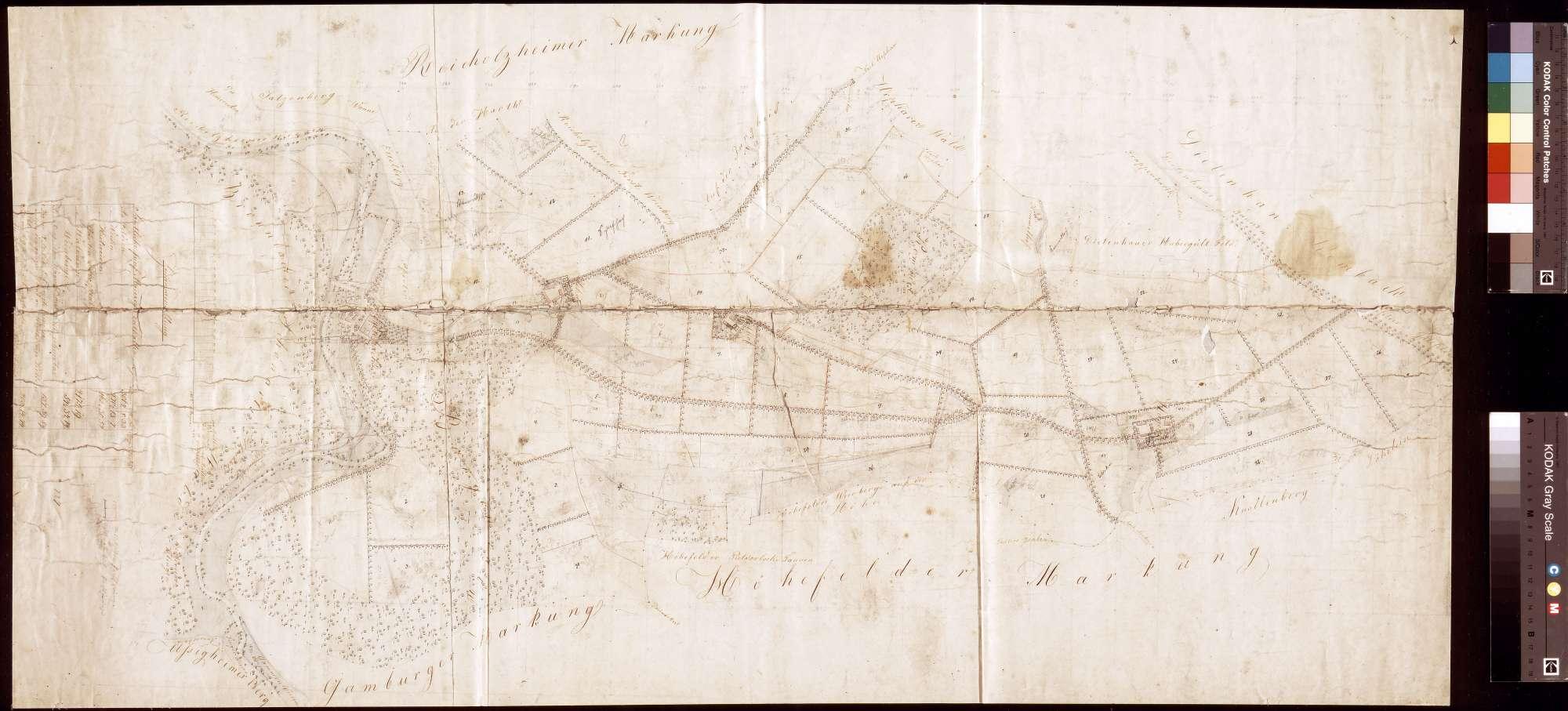 [Vermessung der Bronnbacher Gemarkung östlich der Tauber] (Inselkarte), Bild 1