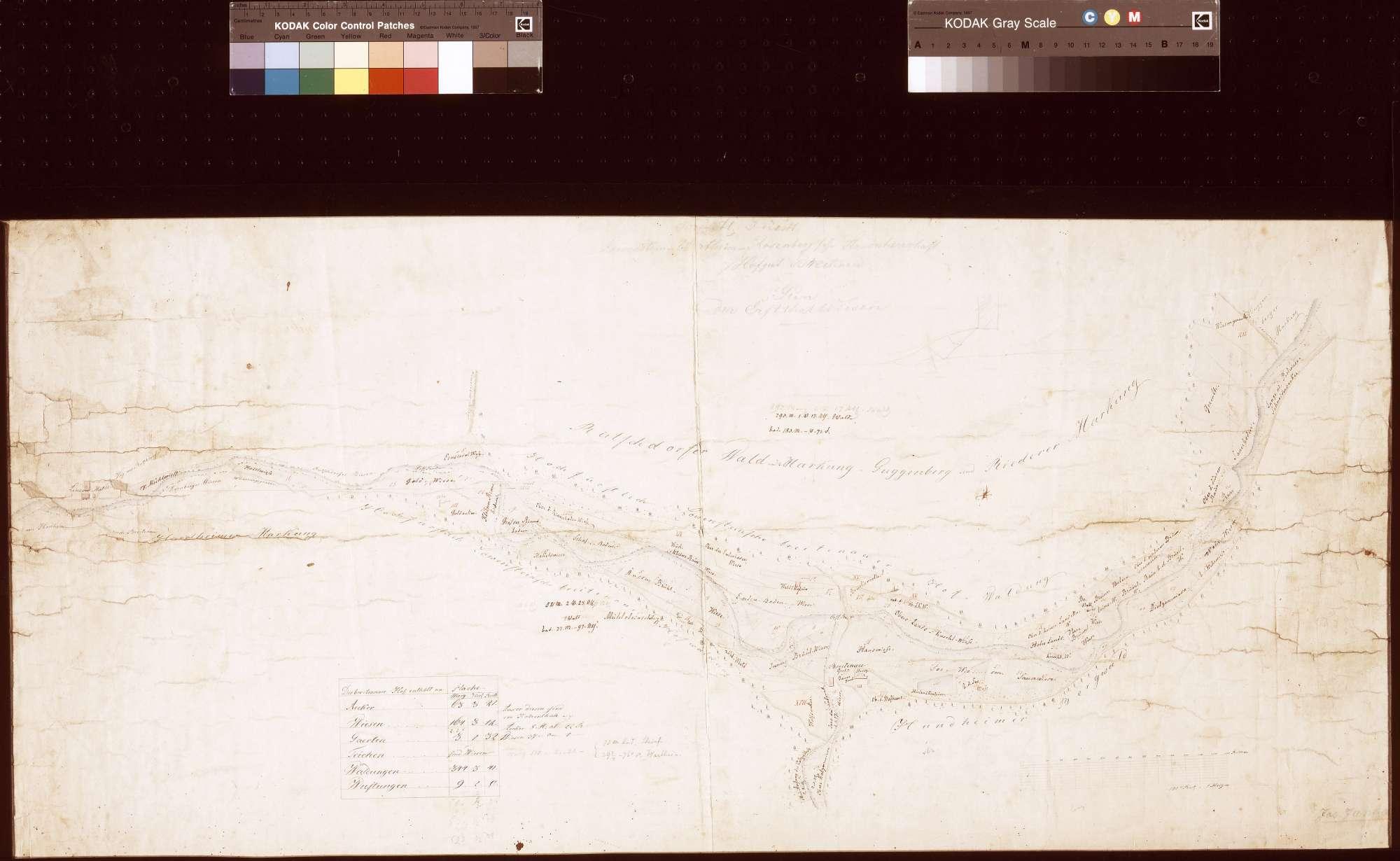 Hofgut Breitenau, Plan der Erftalwiesen (Inselkarte), Bild 1