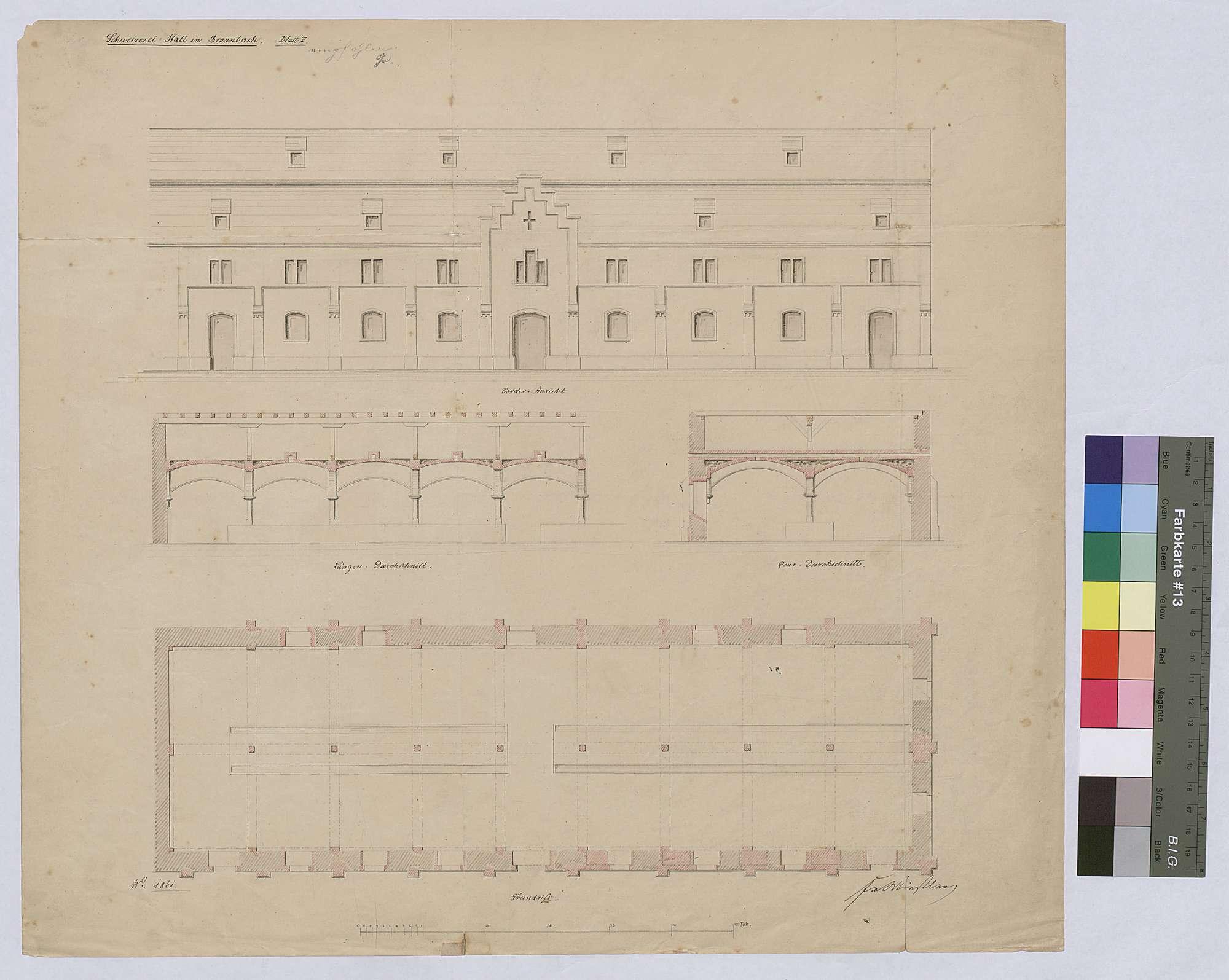 Schweizerei-Stall in Bronnbach, Blatt II, Bild 1