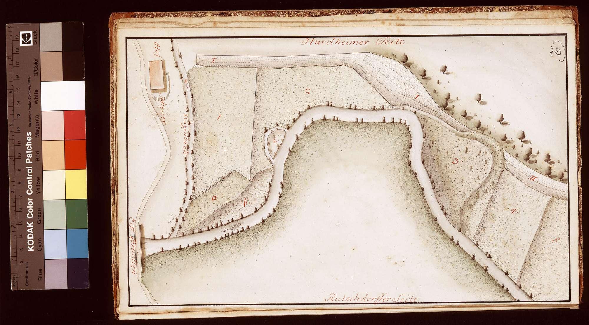 Geometrische Aufnahme der zum Hof Breitenau gehörigen Wiesen und übrigen Grundstücke, Blatt 2