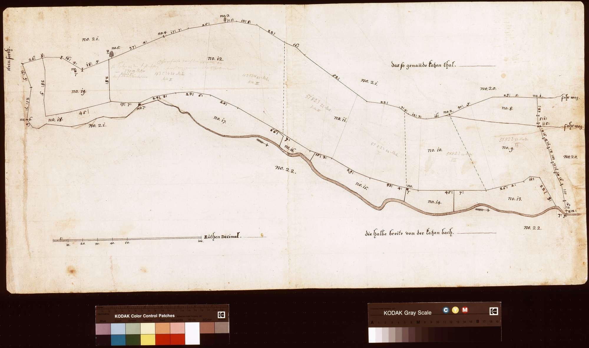 [Neuvermessung der Güter des Hofs Breitenau im Katzental] (Inselkarte), Bild 1
