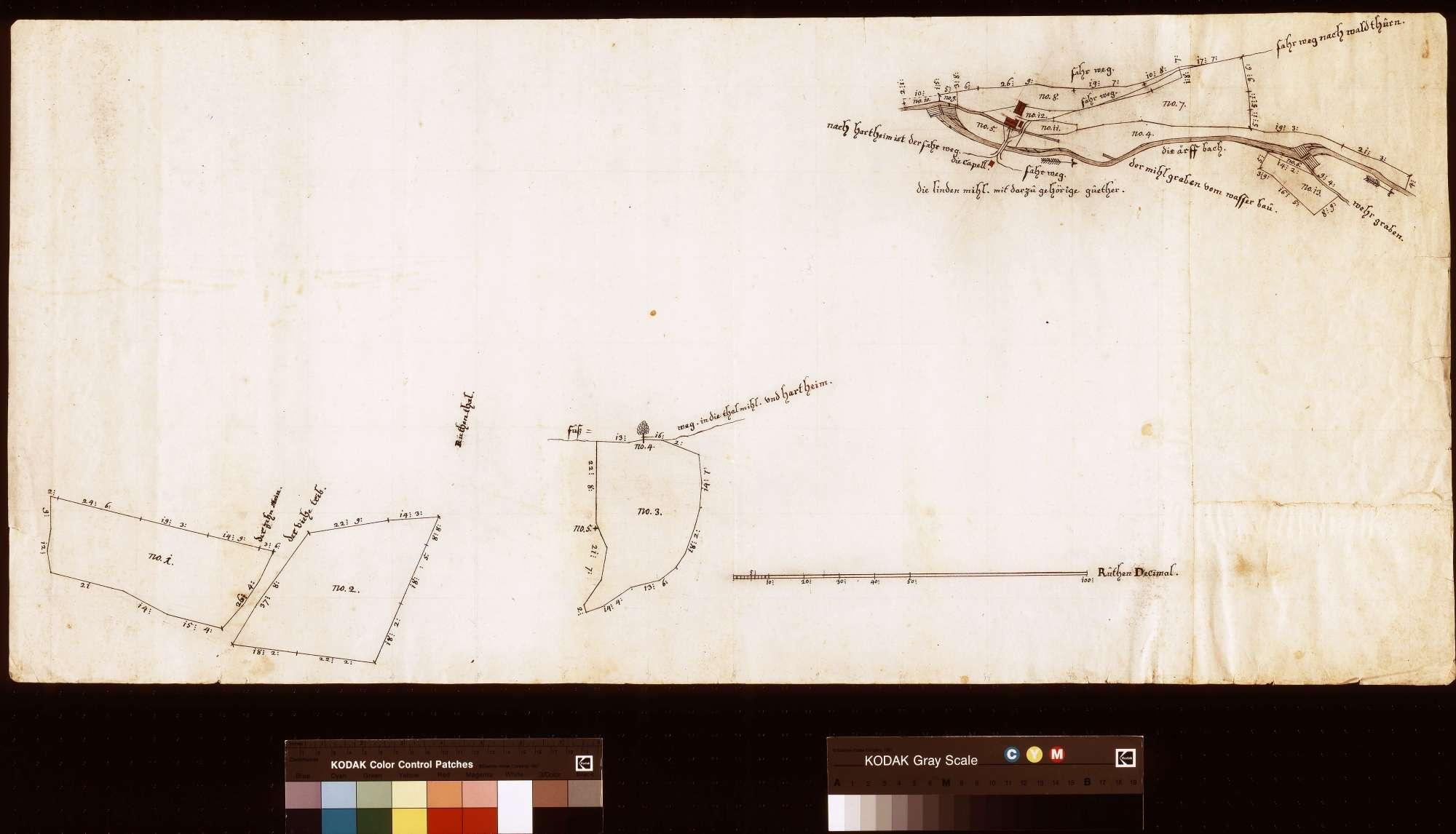 Lindenmühle mit dazugehörigen Gütern (Inselkarte), Bild 1