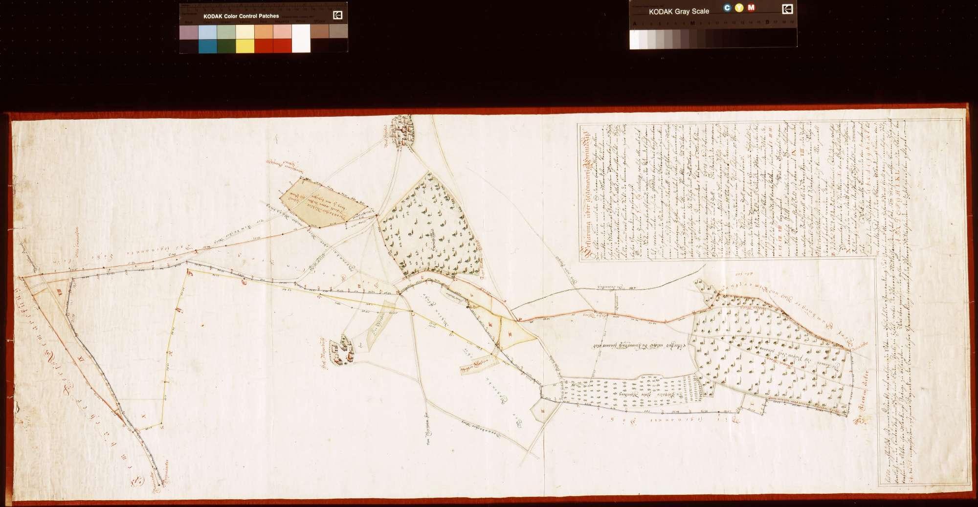 [Neuabsteinung der Bronnbacher Gemarkung gegen Höhefeld] (Inselkarte), Bild 1