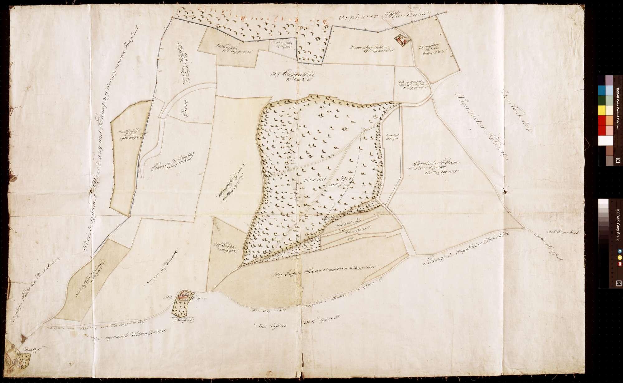 [Neuabsteinung eines Teils der Bronnbacher Gemarkung gegen Reicholzheim und Urphar] (Inselkarte), Bild 1