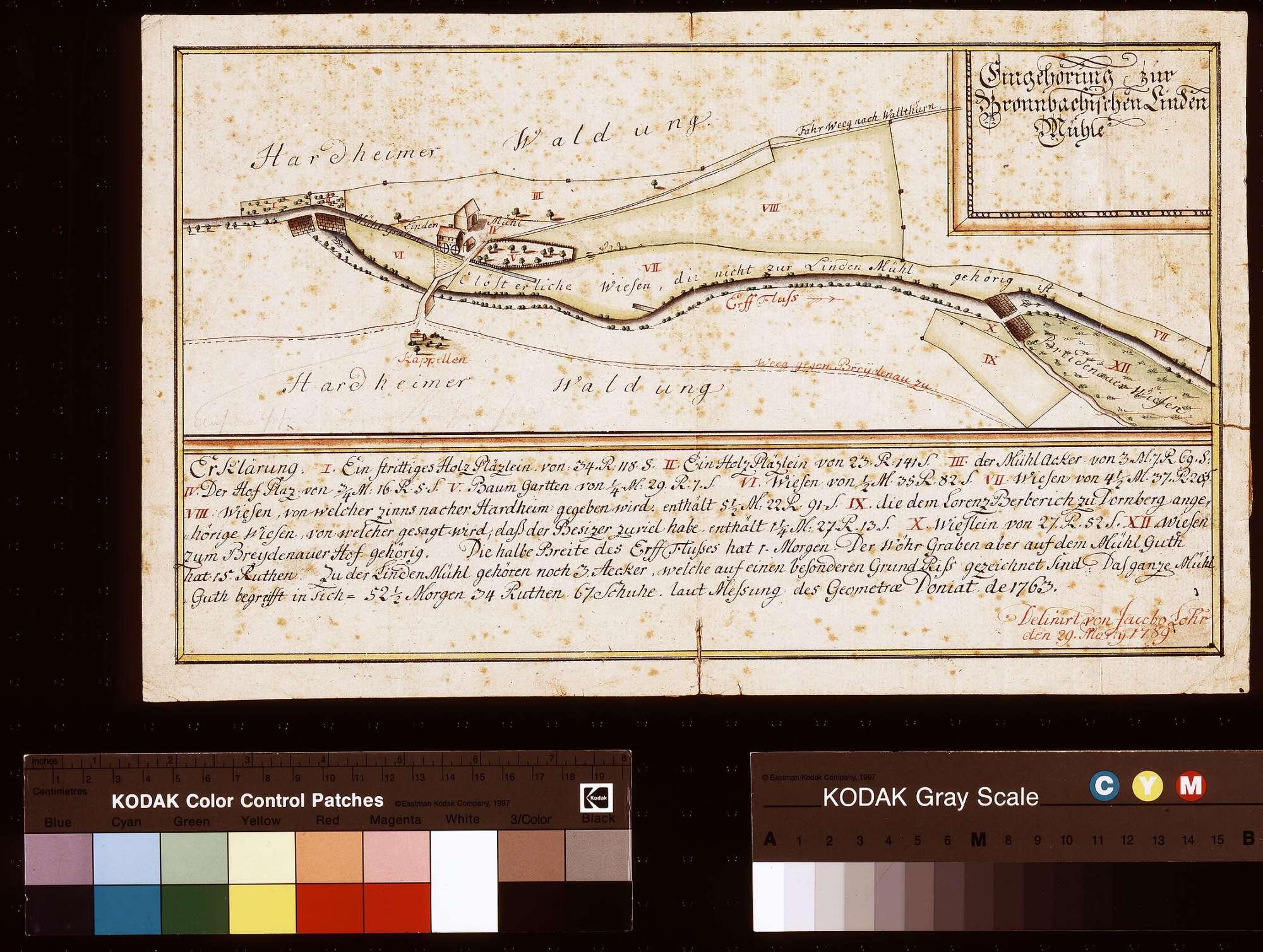 Zubehör zur bronnbachischen Lindenmühle (Inselkarte), Bild 1