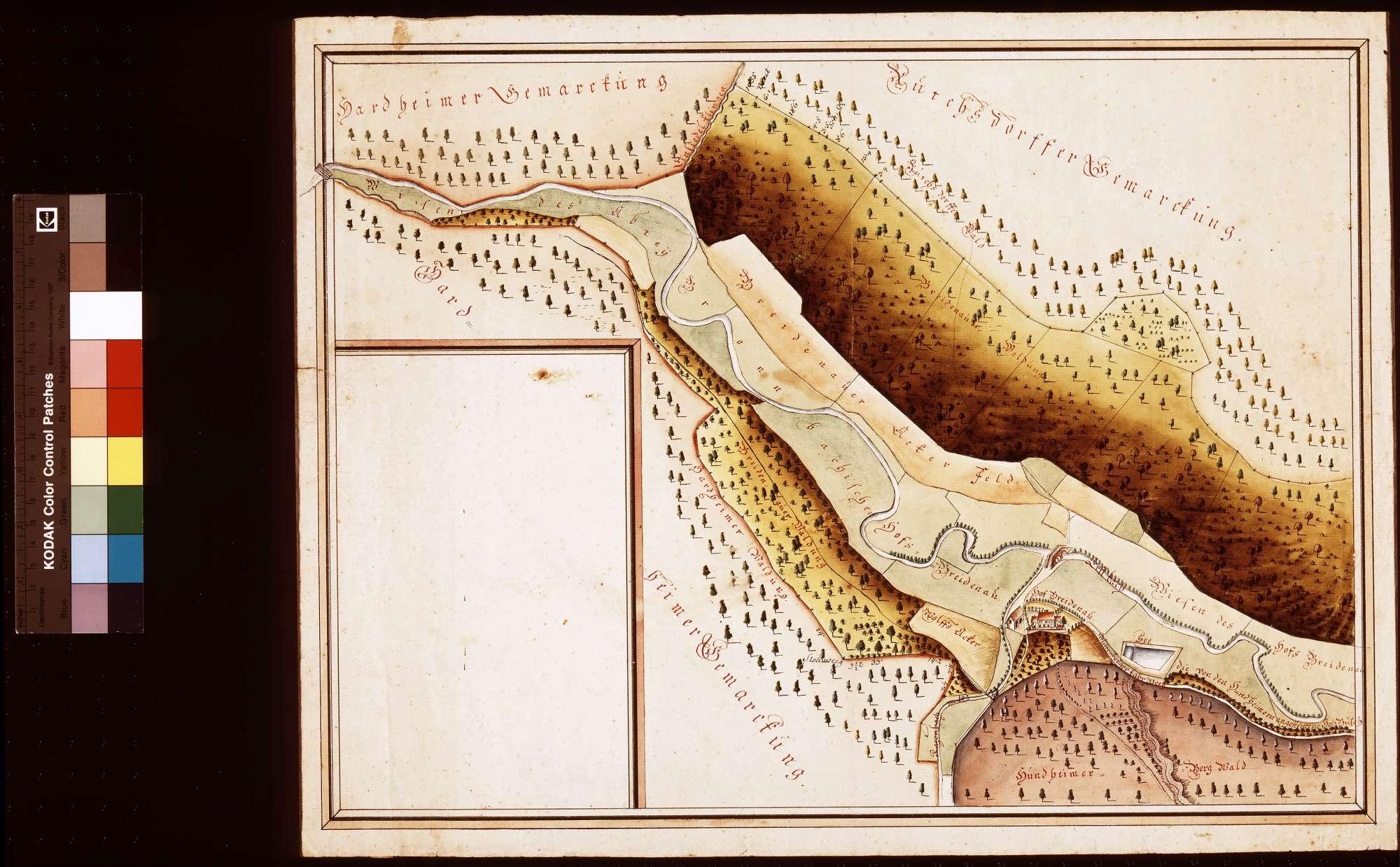 [Neuvermessung der Felder, Wiesen und Waldstücke im Erftal ob dem Hof Breitenau], Bild 1