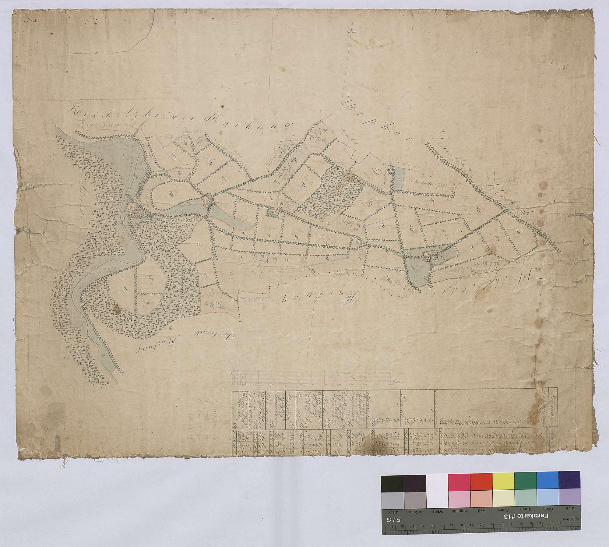Felderanblümung der Höfe auf Bronnbacher Gemarkung (Inselkarte), Bild 1