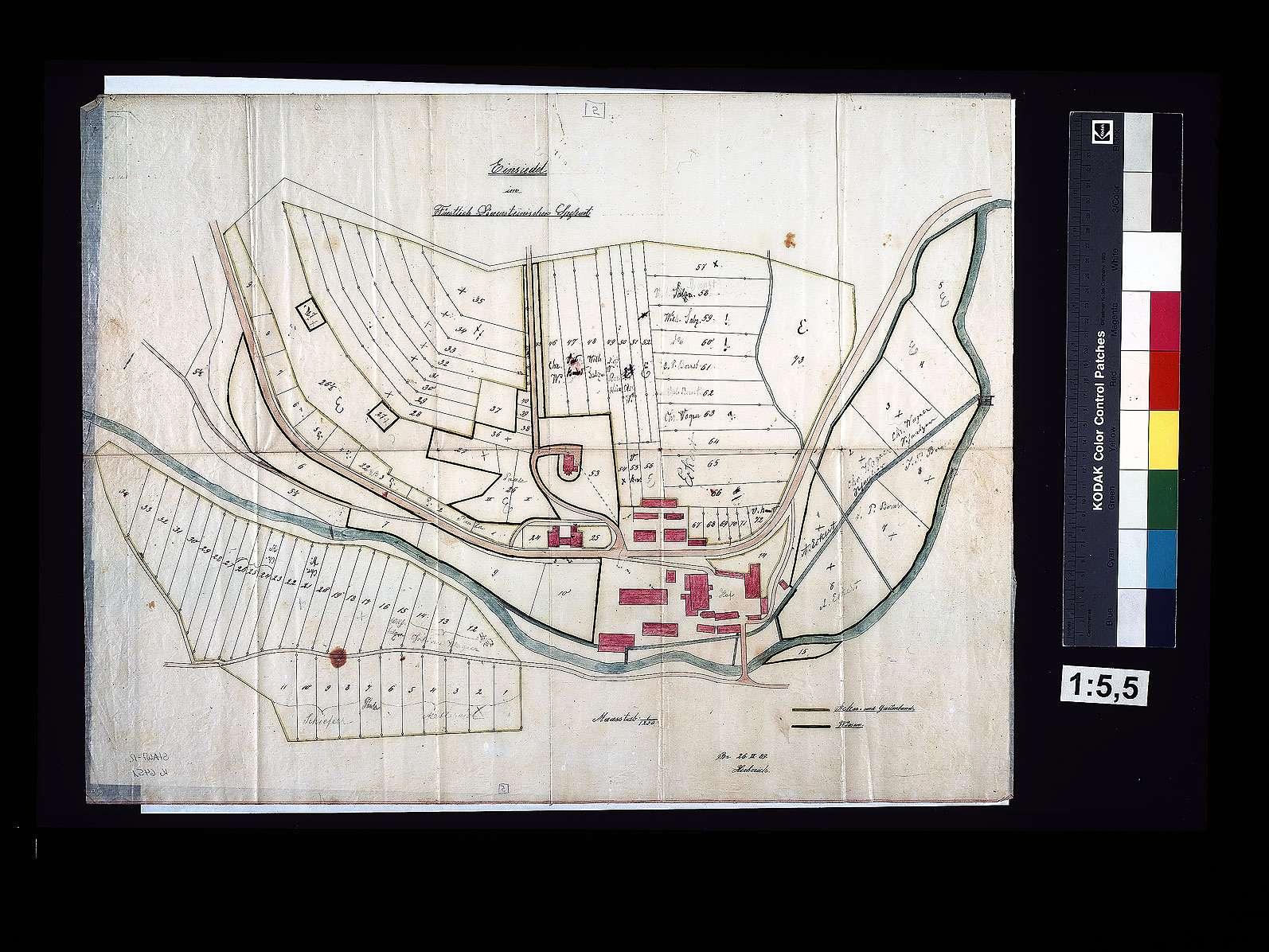 Topographische Karte des Großherzogtums Baden 1:25.000. Blatt Schlossau, Bild 1