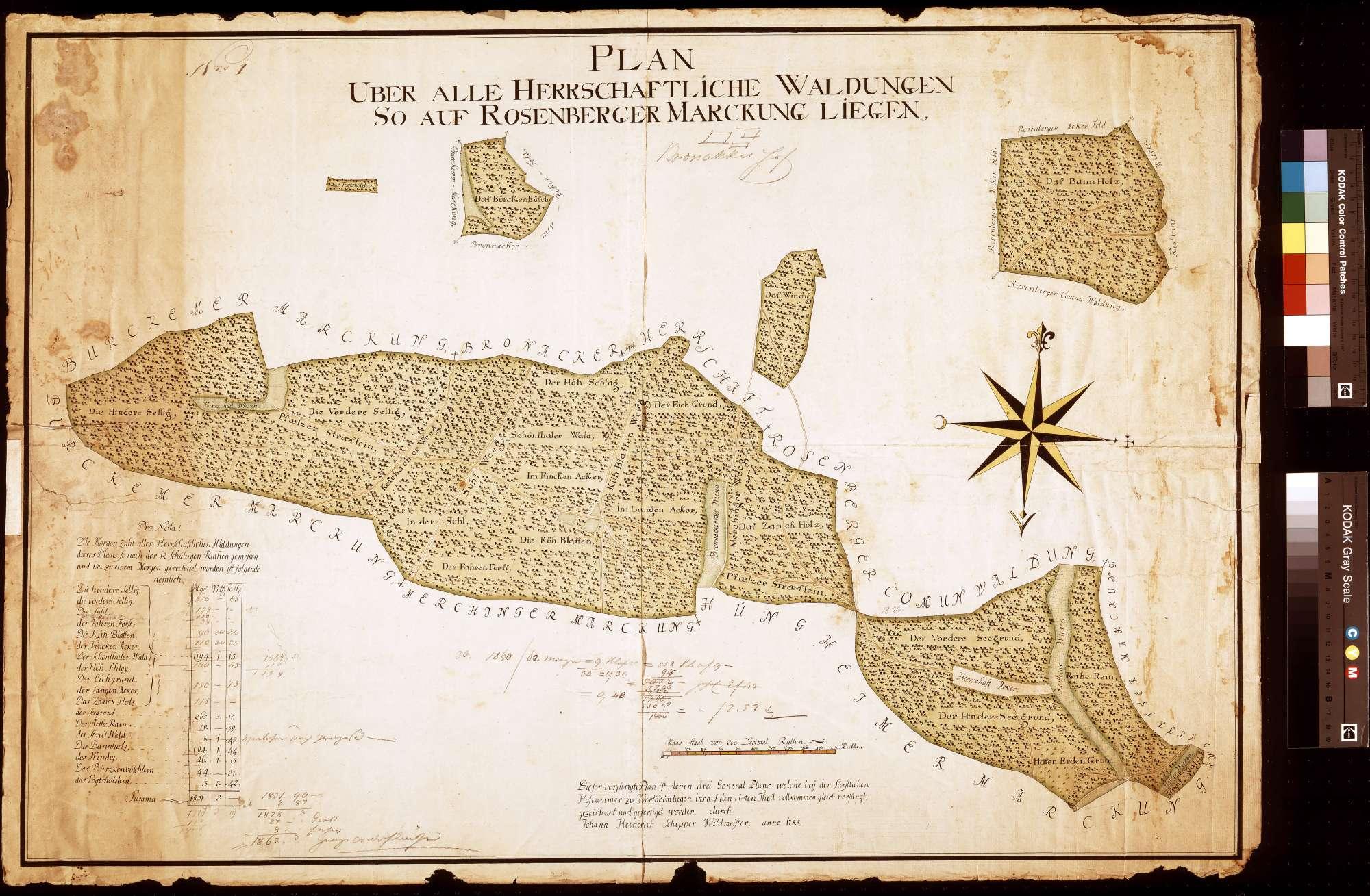 Waldungen auf Rosenberger Markung (Inselkarte), Bild 1