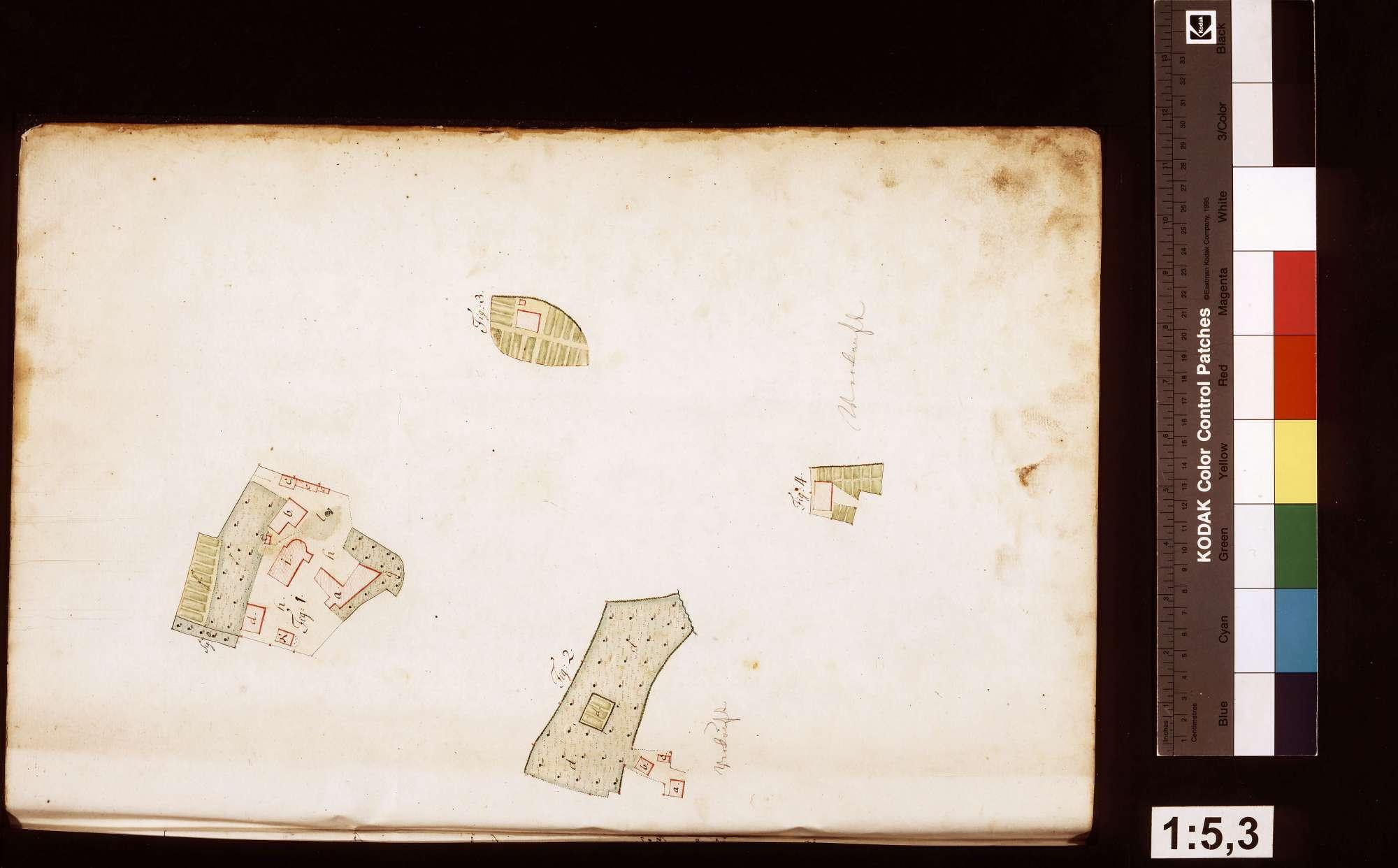 Rosenberg: Geometrische Aufnahme der löwensteinischen Gebäude und Grundstücke im Amt Rosenberg, Blatt3