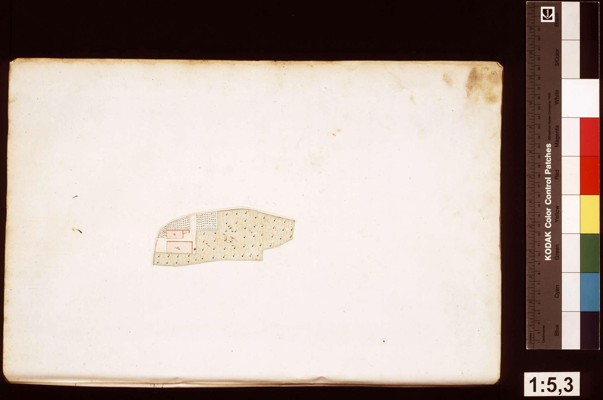 Rosenberg: Geometrische Aufnahme der löwensteinischen Gebäude und Grundstücke im Amt Rosenberg, Blatt5