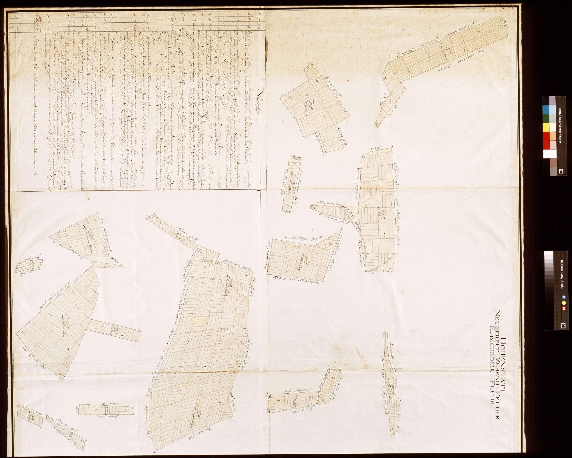 Hohenstadt: Neugereutzehntfelder, Eubigheimer Flur (Inselkarte), Bild 1