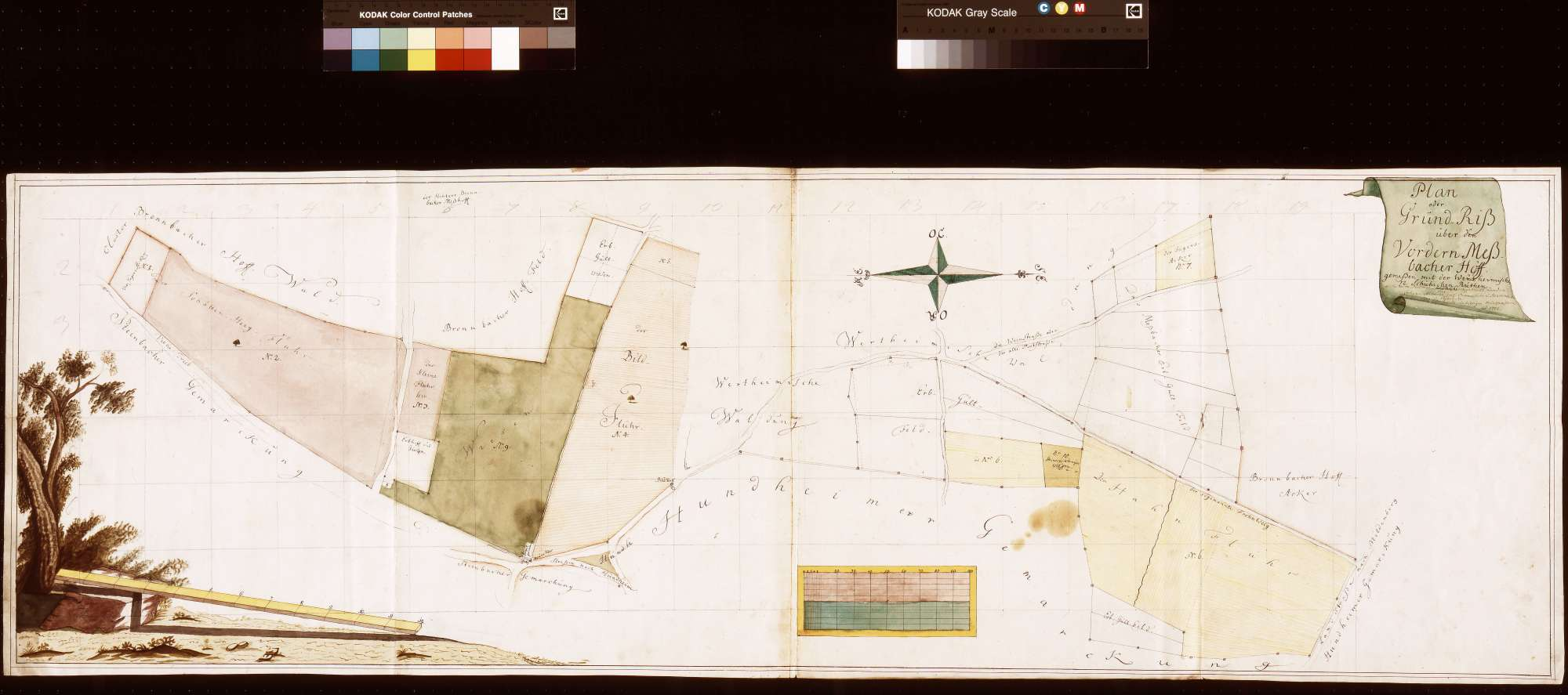 Grundriss über den Vorderen Meßhof (Meßbacher Hof) (Inselkarte), Bild 1