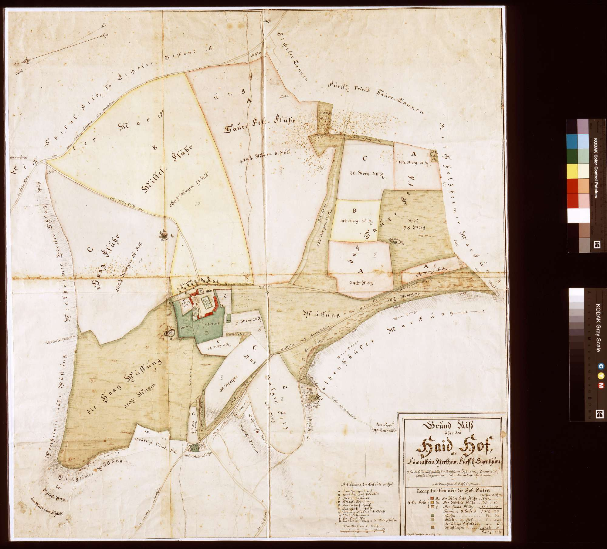 Haidhof als Löwenstein-Wertheimisches Eigentum (Inselkarte), Bild 1