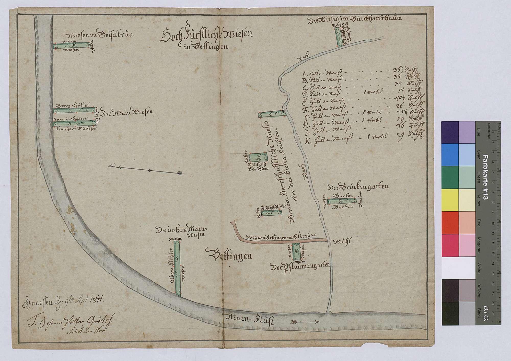 Wiesen in Bettingen (Inselkarte), Bild 1