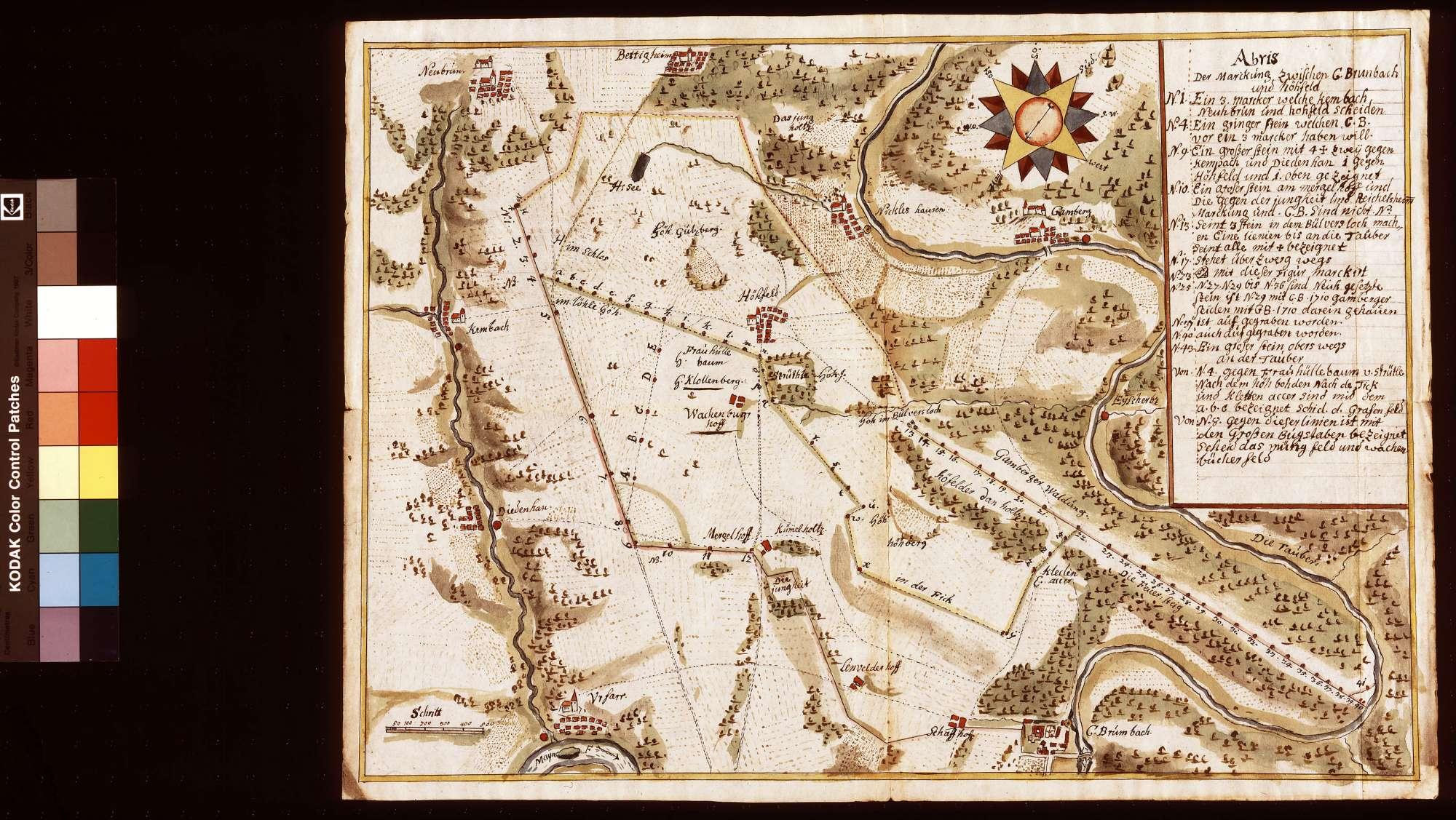Markung zwischen Kloster Bronnbach und Höhefeld, Bild 1