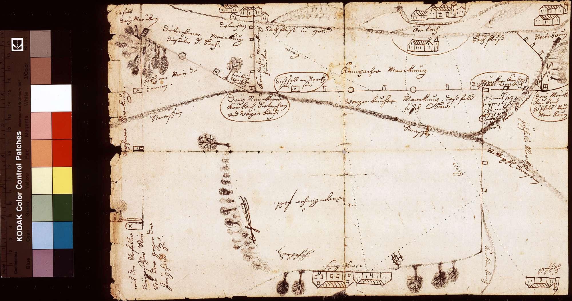 [Markungsscheidung zwischen Kloster Bronnbach und den benachbarten Orten], Bild 1