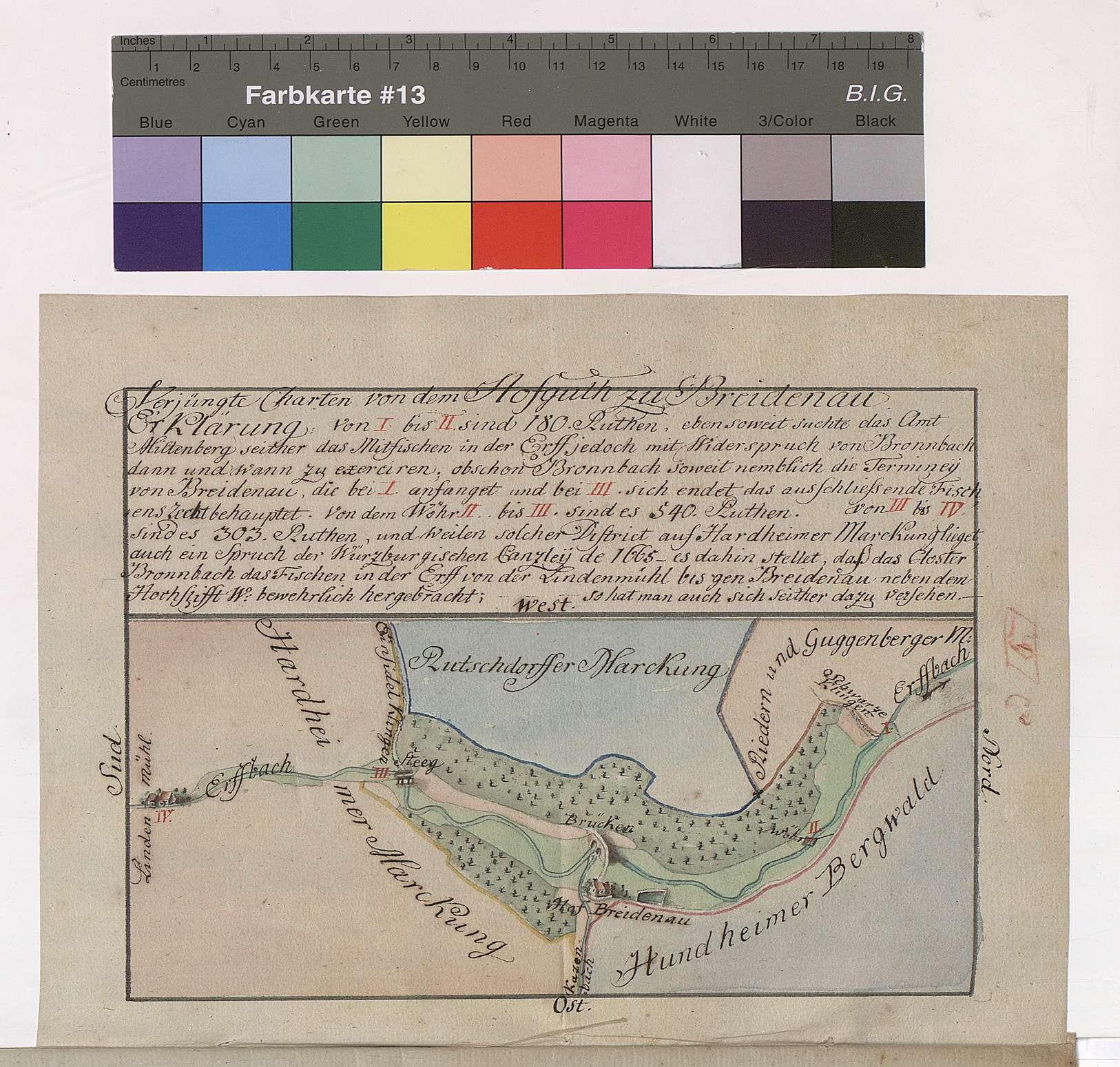 Verjüngte Karten von dem Hofgut Breitenau, Bild 1